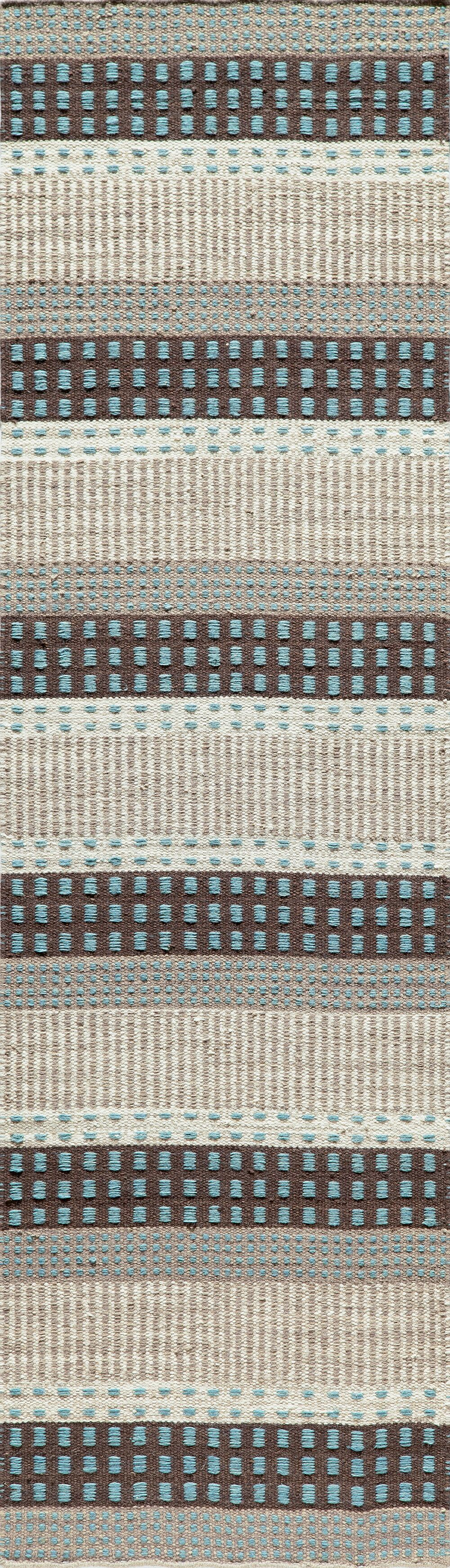 Epping Hand-Woven Blue Area Rug Rug Size: Rectangle 5' x 8'