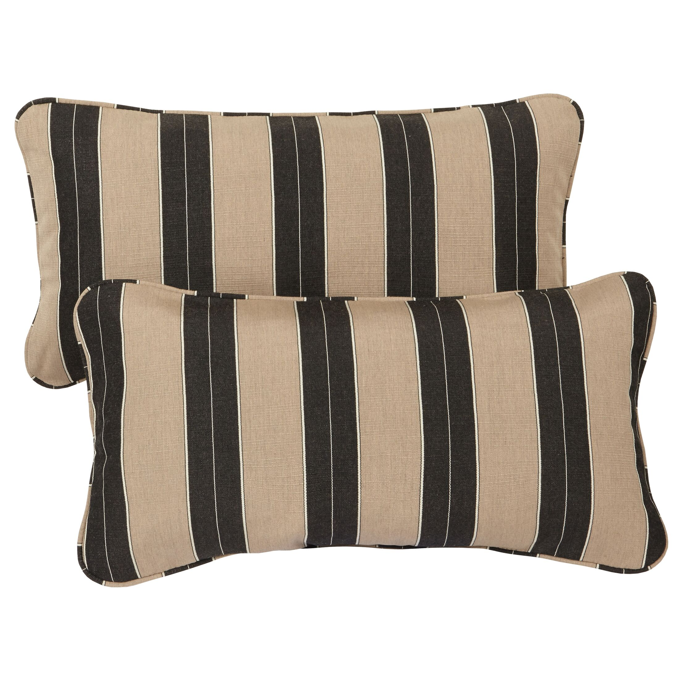 Crestwood Outdoor Sunbrella Lumbar Pillow Size: 12