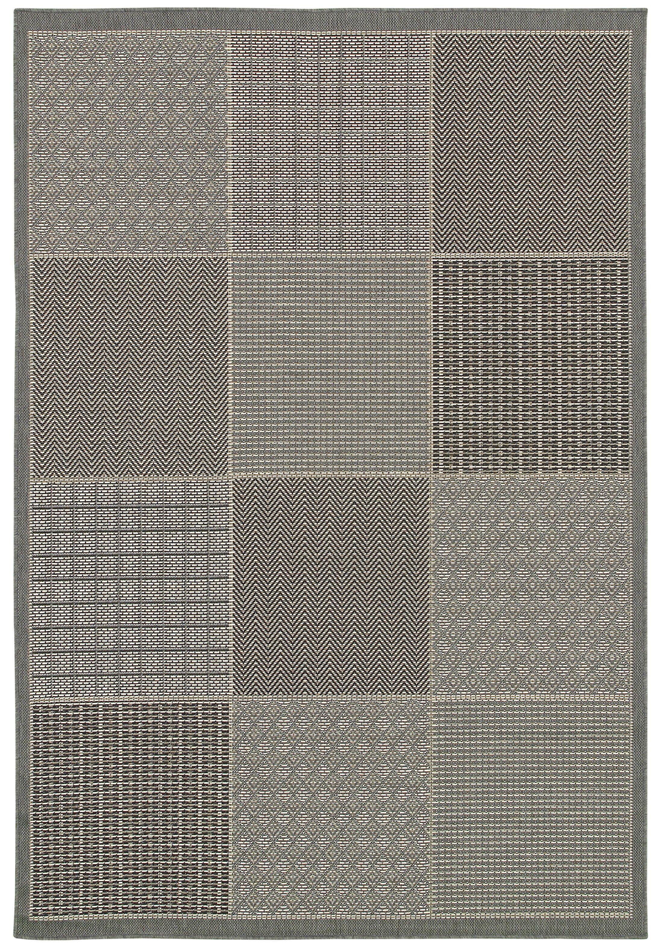 Millbourne Gray Indoor/Outdoor Area Rug Rug Size: Rectangle 7'6