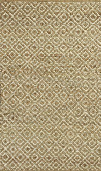 Lenore Sand Diamonds Hand-Woven Area Rug Rug Size: Runner 2'6