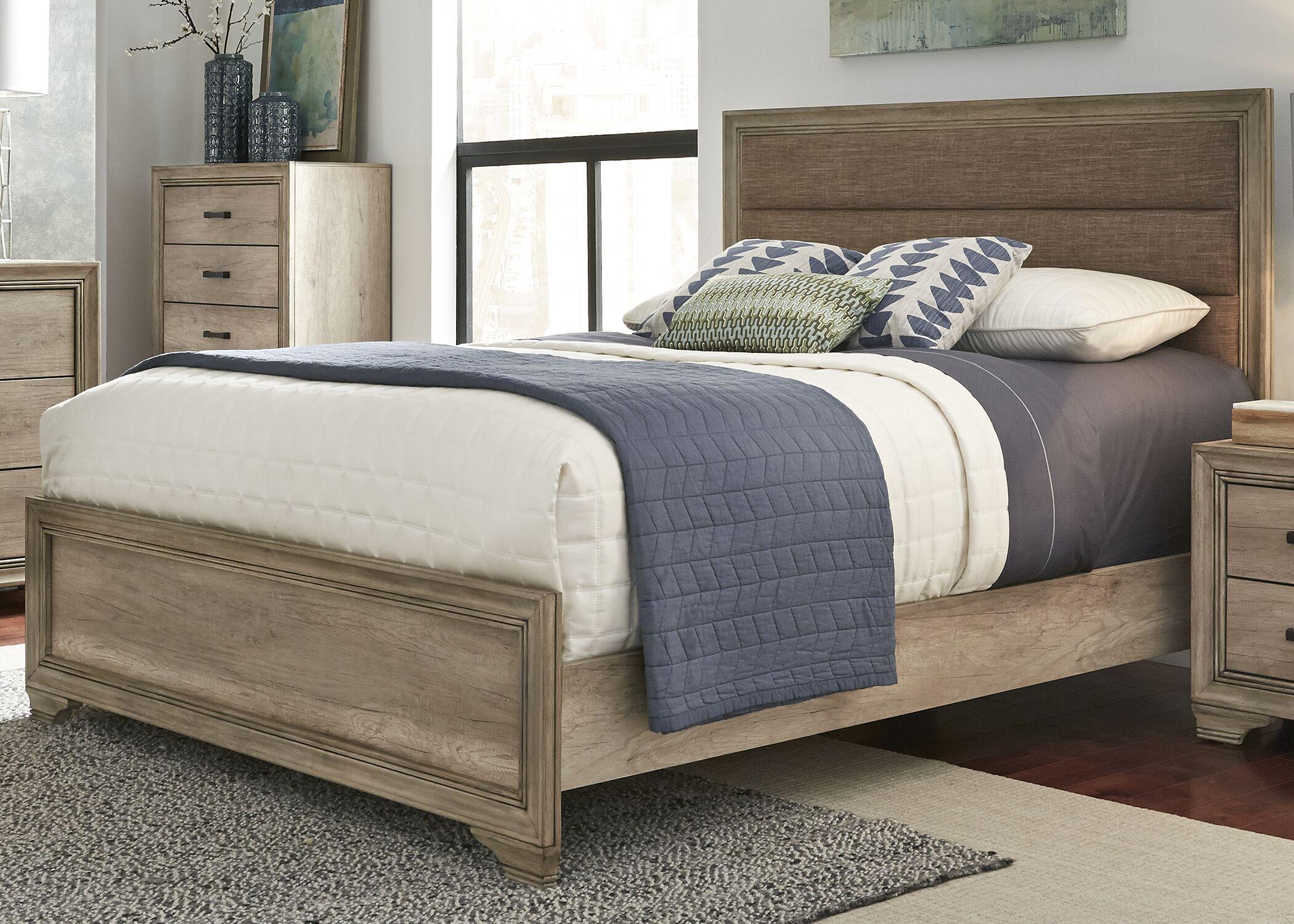 Payne Upholstered Panel  Bed Size: King
