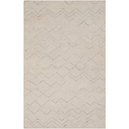 Morton Hand-Woven Beige/Cream Area Rug Rug Size: Rectangle 8' x 10'