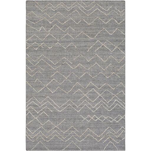 Morton Hand-Woven Medium Gray/Khaki Area Rug Rug Size: Rectangle 5' x 7'6