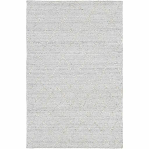 Morton Hand-Woven Ivory/Medium Gray Area Rug Rug Size: Rectangle 5' x 7'6