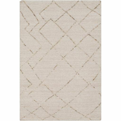 Morton Hand-Woven Khaki/Cream Area Rug Rug Size: Rectangle 5' x 7'6