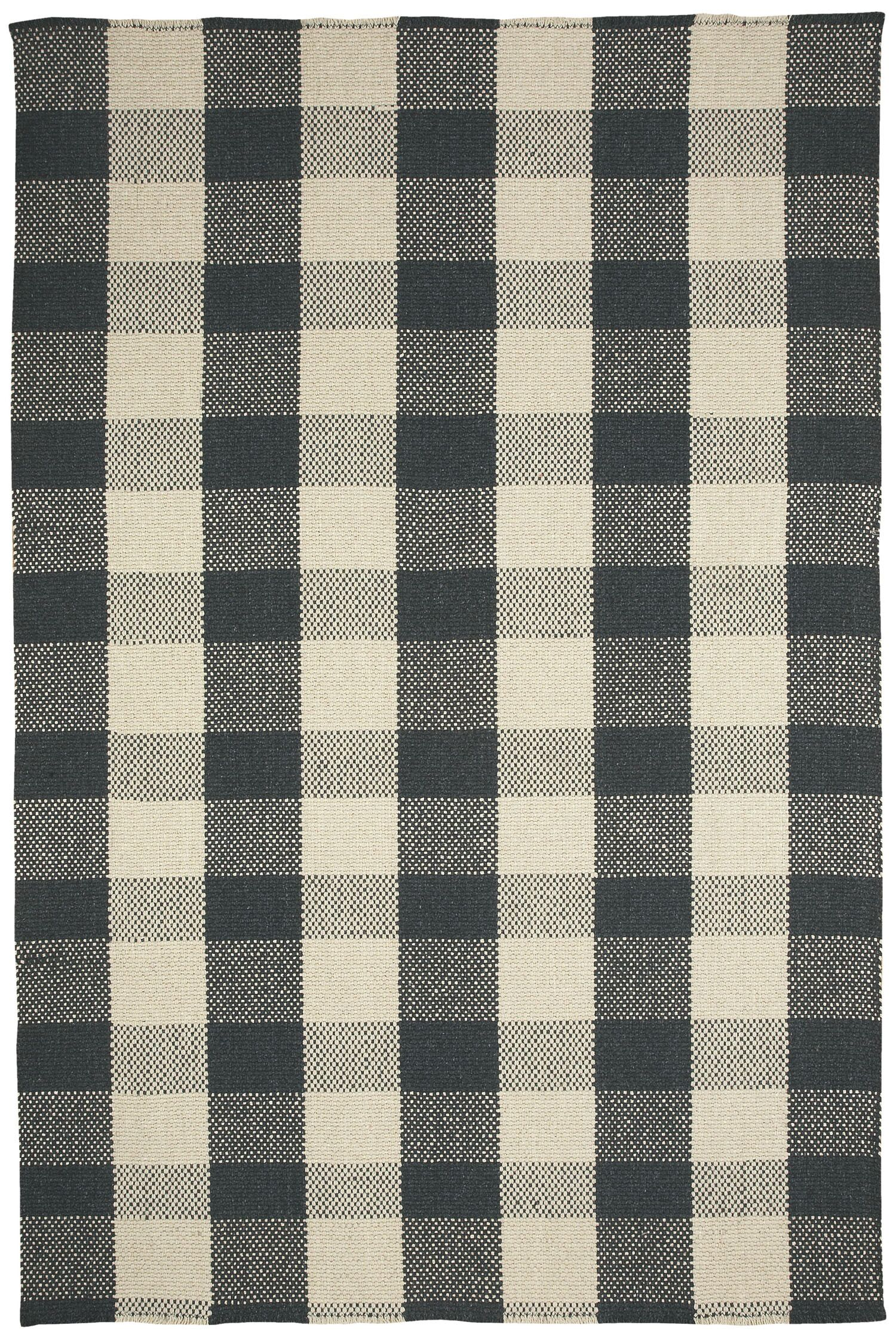 Madeleine Black/Cream Area Rug Rug Size: Rectangle 7' x 9'