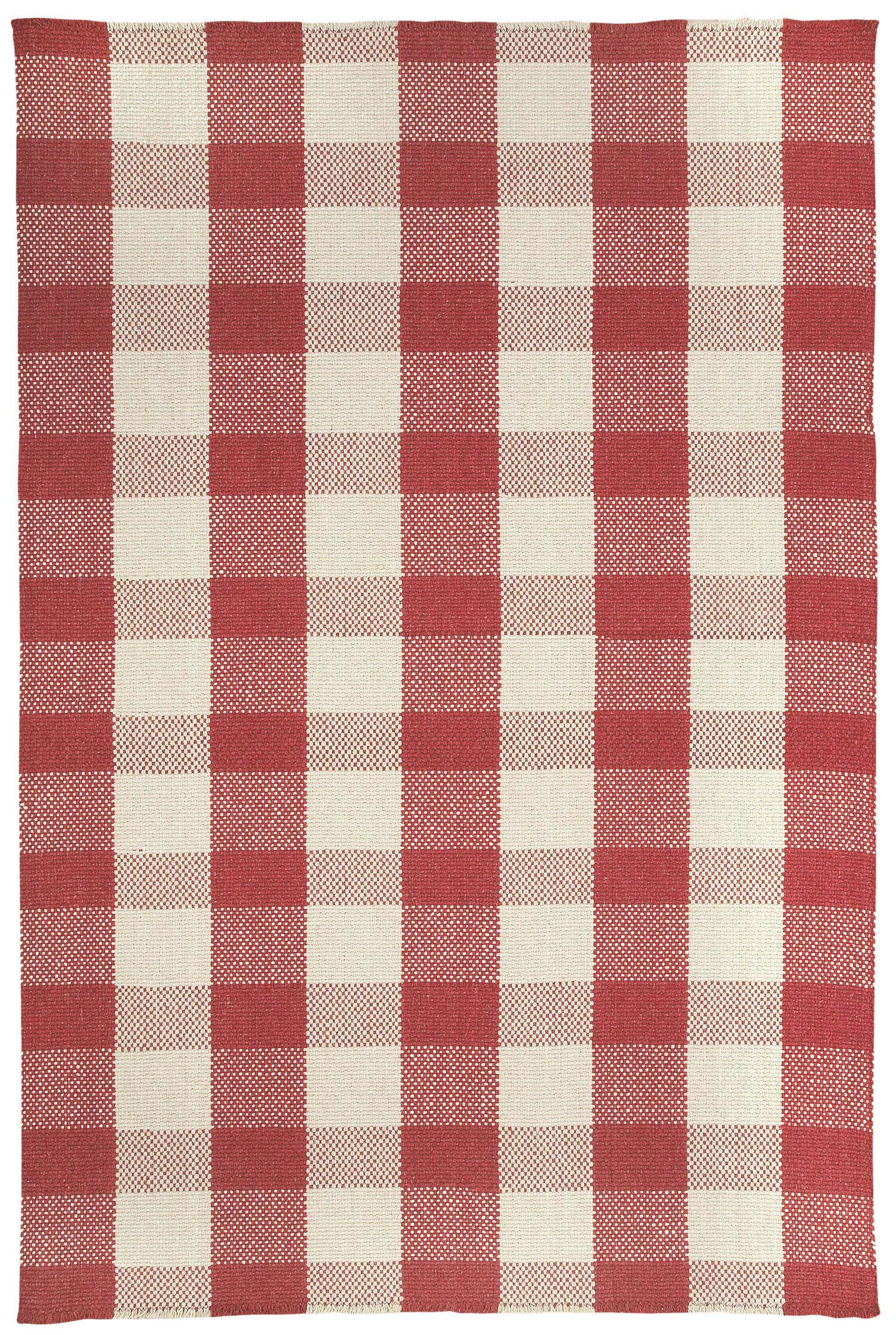 Madeleine Scarlet/Ivory Area Rug Rug Size: Rectangle 7' x 9'