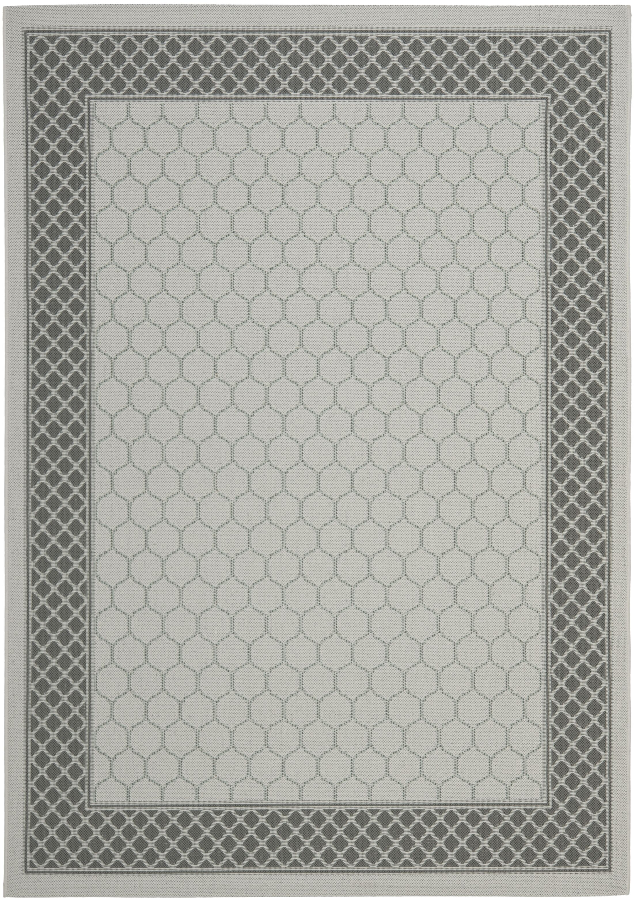 Mcwilliams Light Grey/Anthracite Indoor/Outdoor Rug Rug Size: Rectangle 8' x 11'2