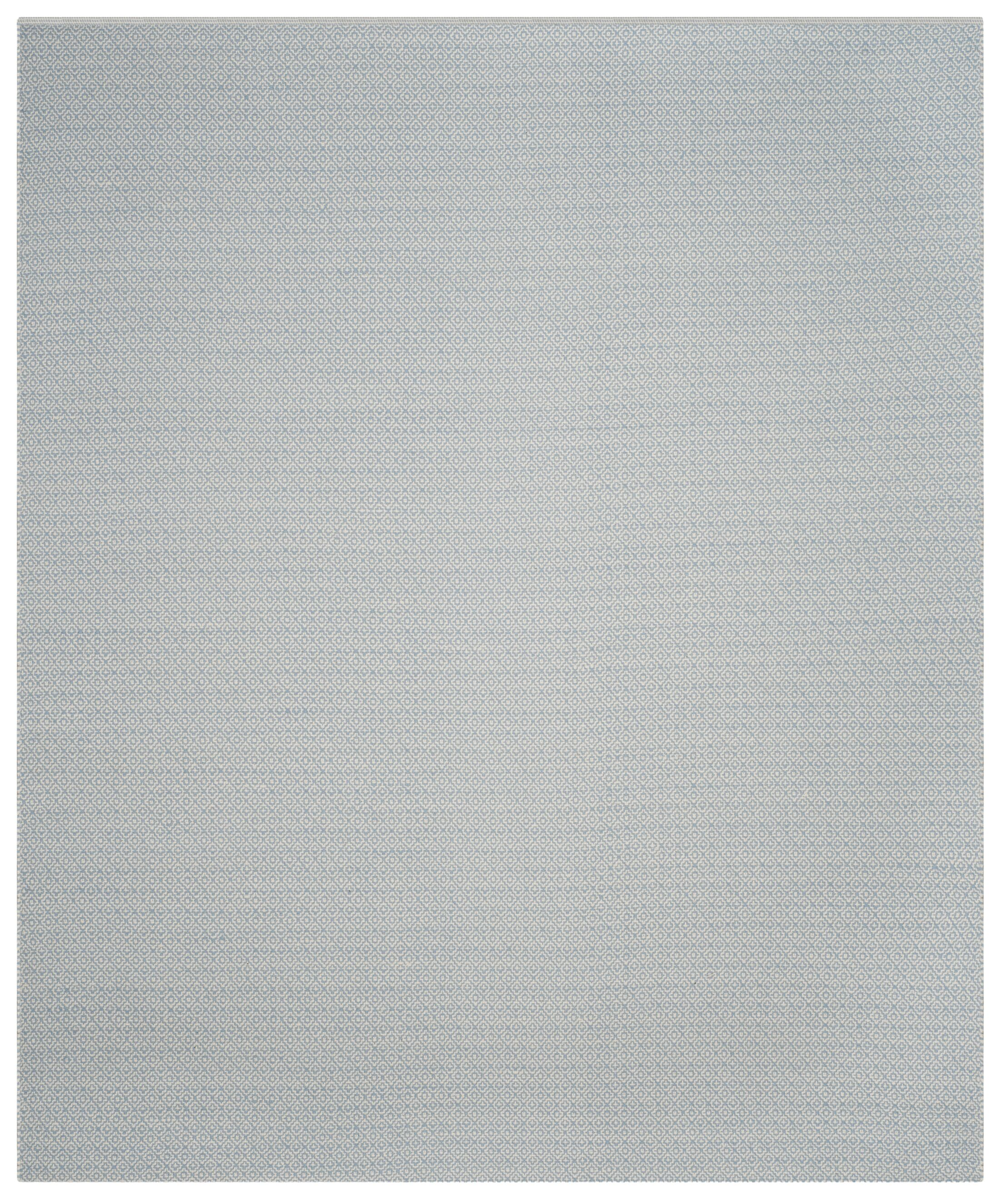 Oxbow Hand-Woven Ivory/Light Blue Area Rug Rug Size: Square 6'