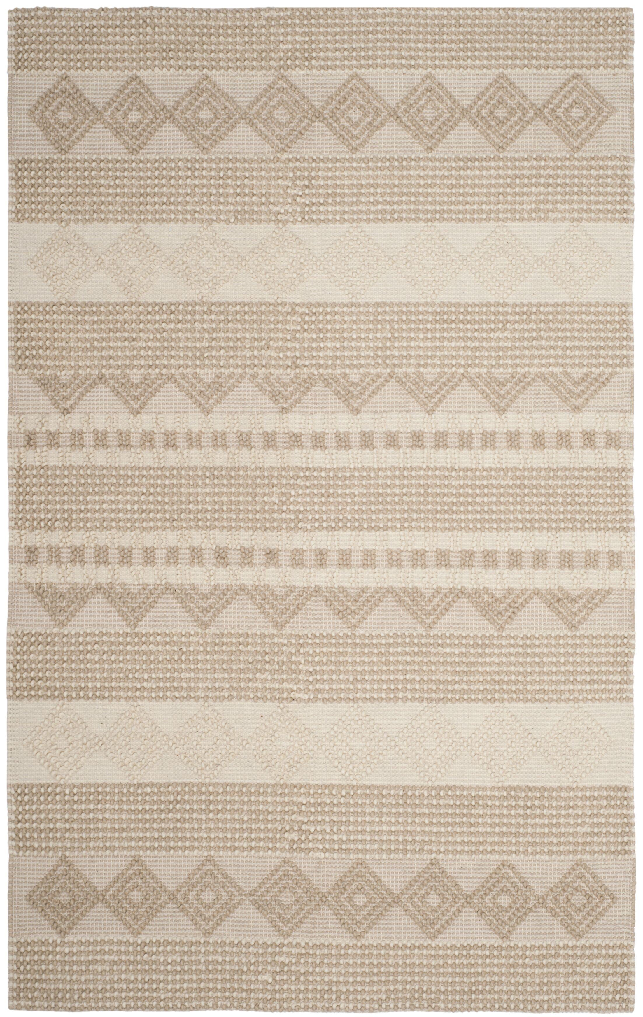Billie Hand-Tufted Beige/Ivory Area Rug Rug Size: Rectangle 9' x 12'