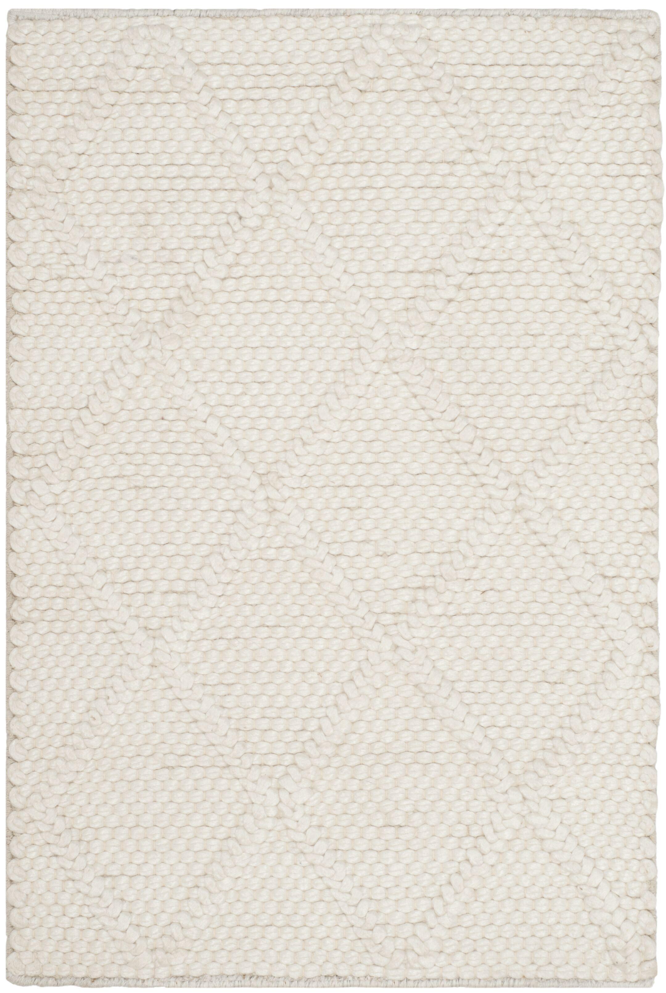 Billie Hand-Tufted Ivory Area Rug Rug Size: Rectangle 5' x 8'