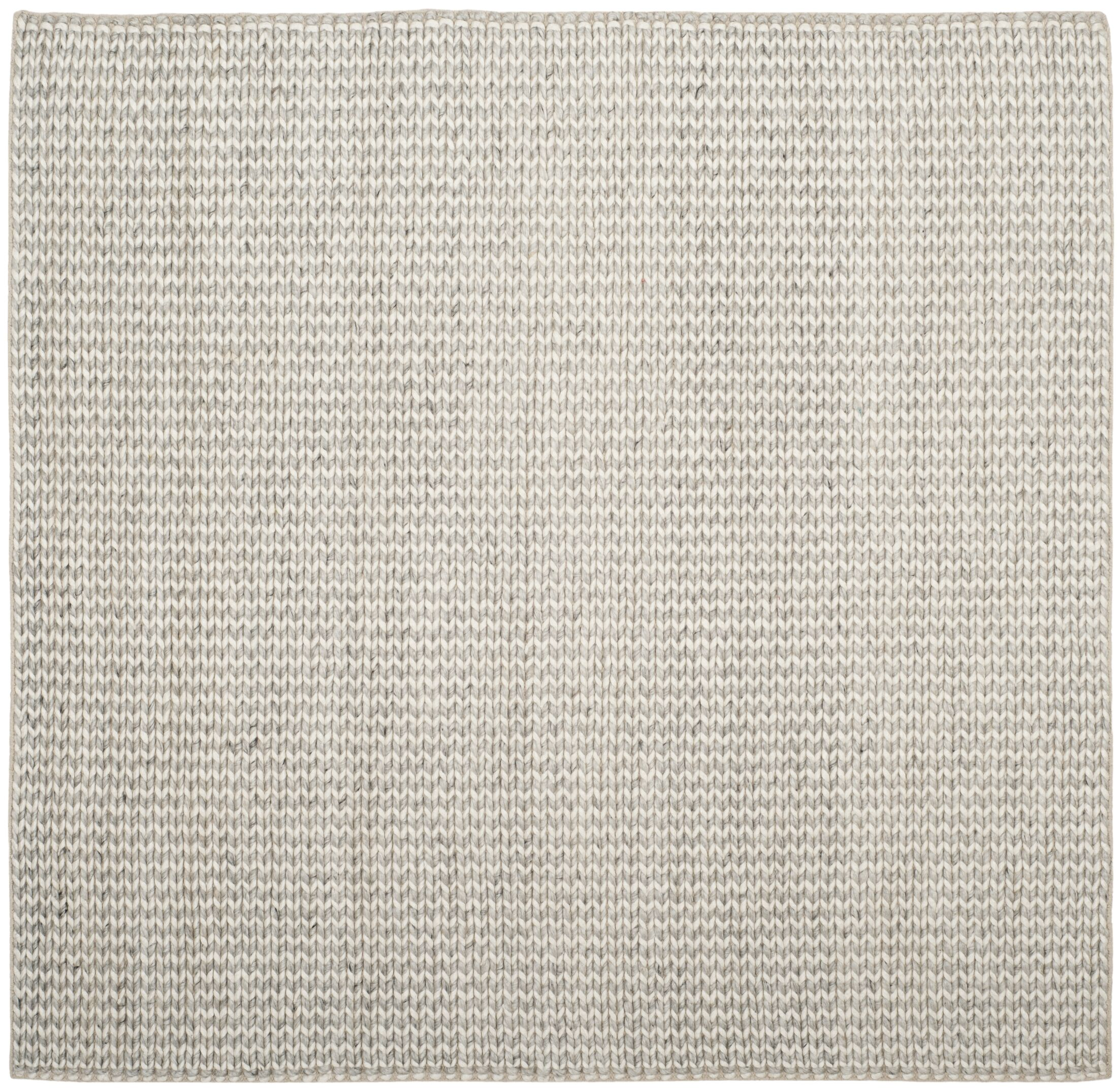 Newry Hand-Tufted Ivory/Silver Area Rug Rug Size: Square 6'
