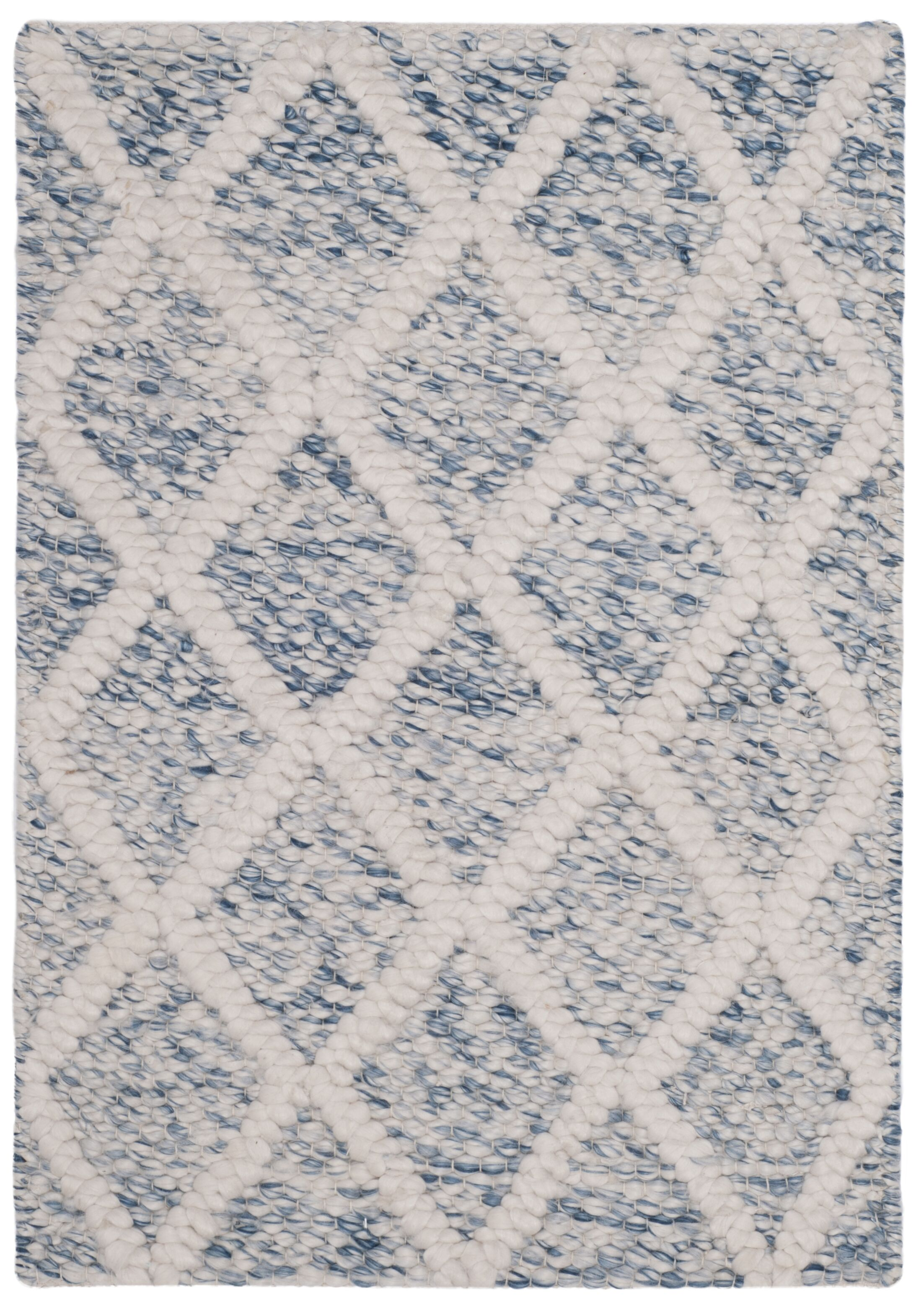 Billie Hand-Tufted Ivory/Blue Area Rug Rug Size: Rectangle 5' x 8'