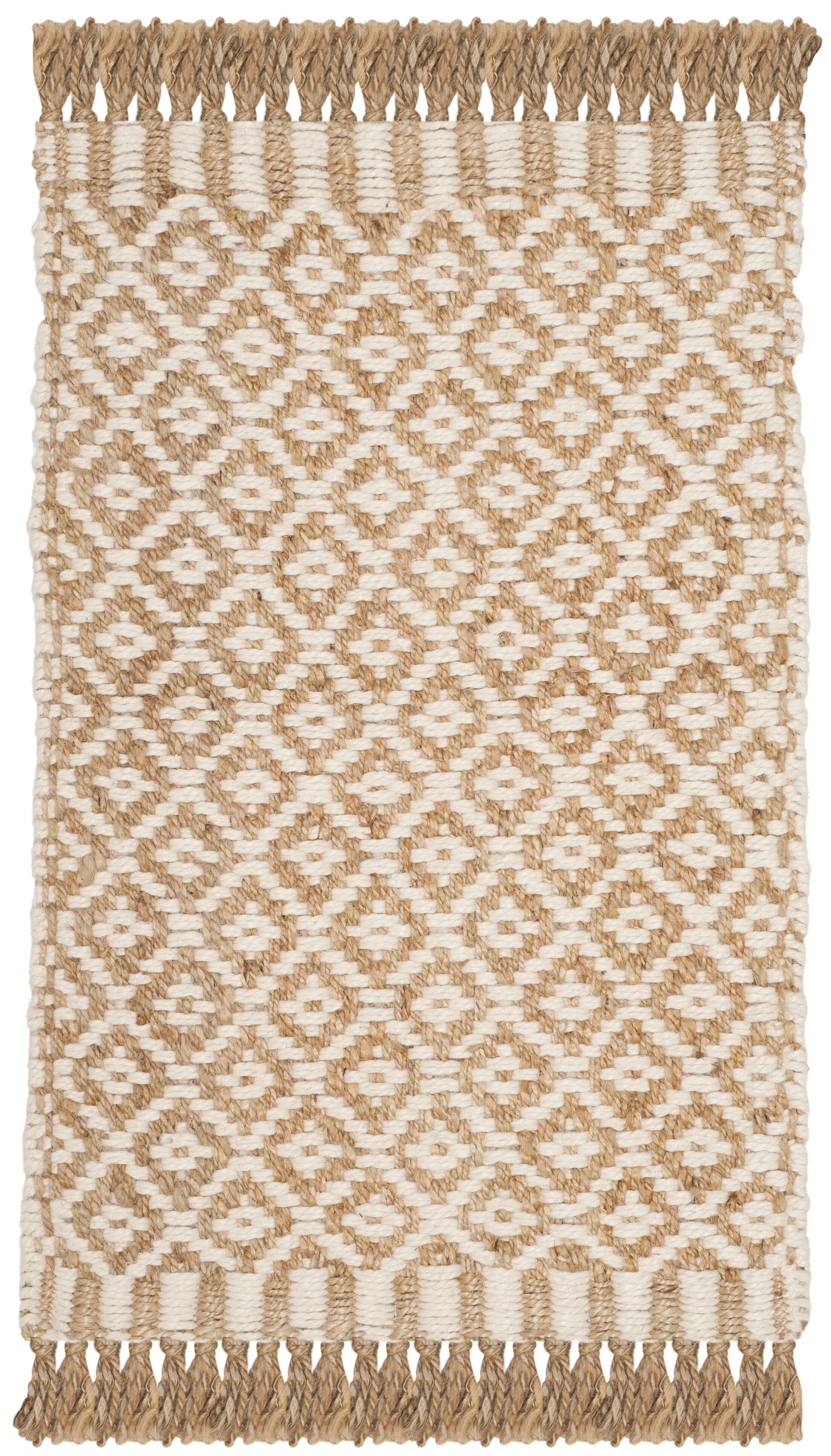 Nicholson Fiber Hand-Woven Natural/Ivory Area Rug Rug Size: Rectangle 9' x 12'
