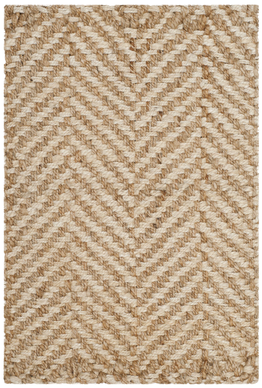 Ciel Fiber Hand-Woven Ivory/Natural Area Rug Rug Size: Runner 2'3