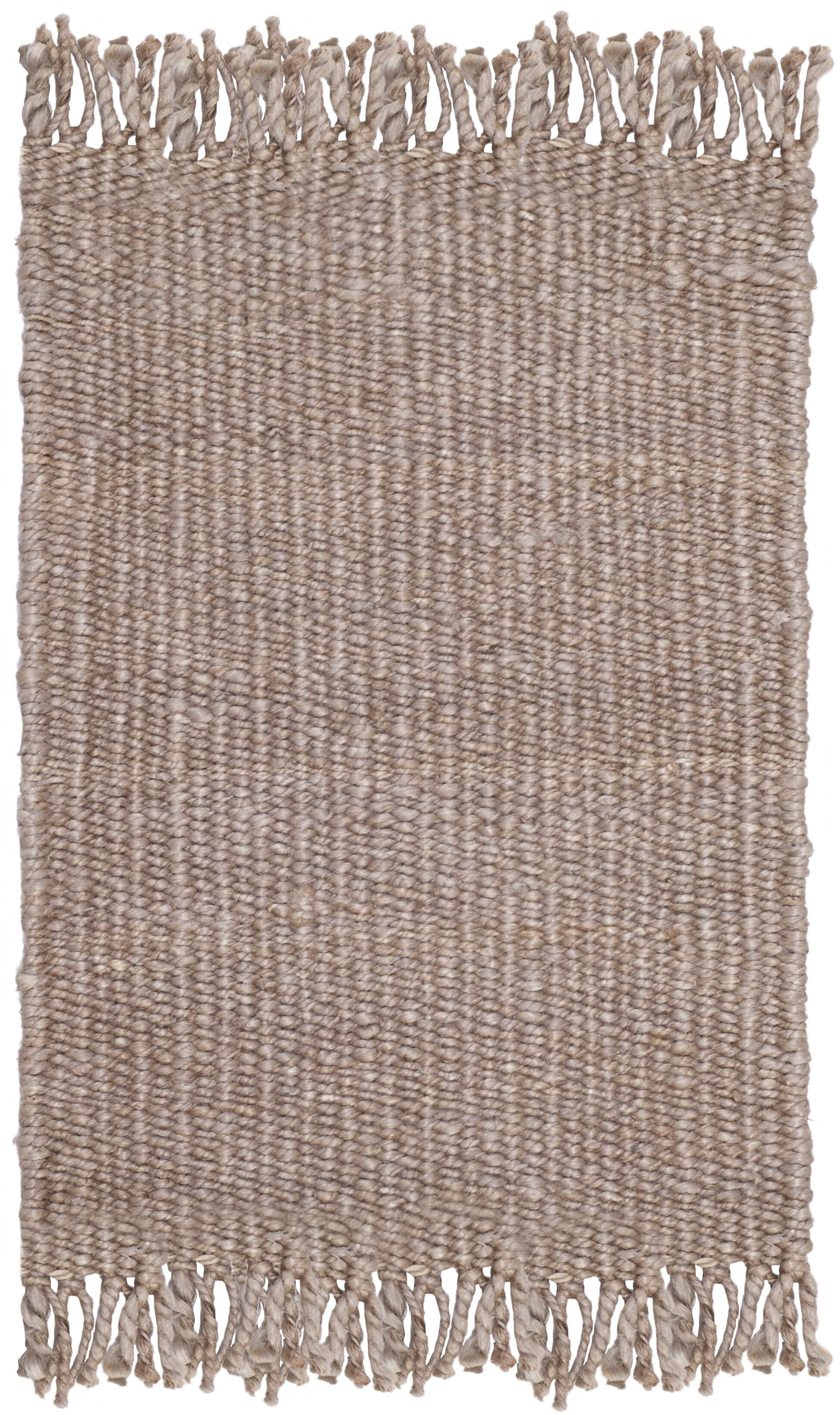 Lookout Fiber Hand-Woven Gray Area Rug Rug Size: Round 6'