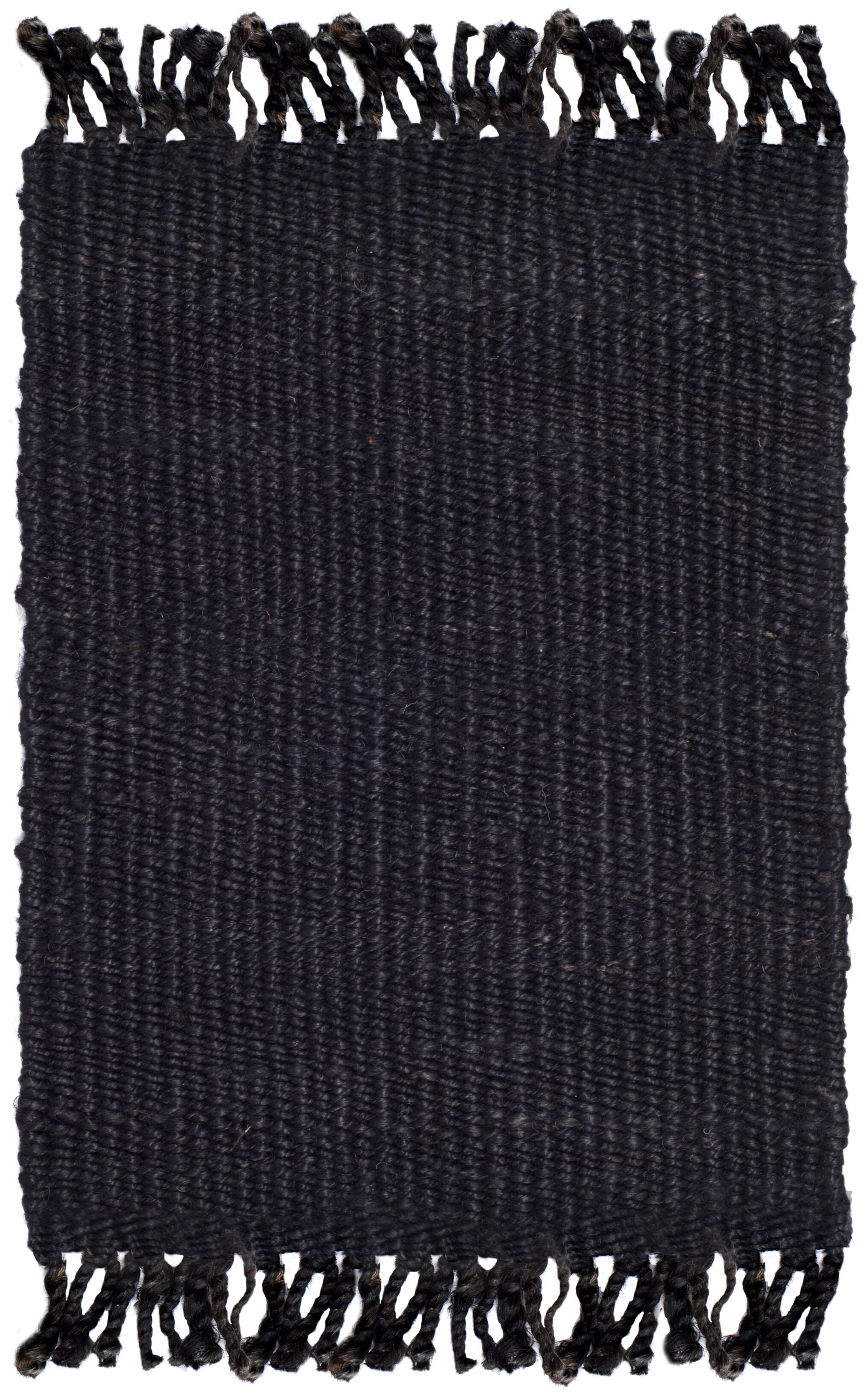 Lookout Fiber Hand-Woven Black Area Rug Rug Size: Square 6'