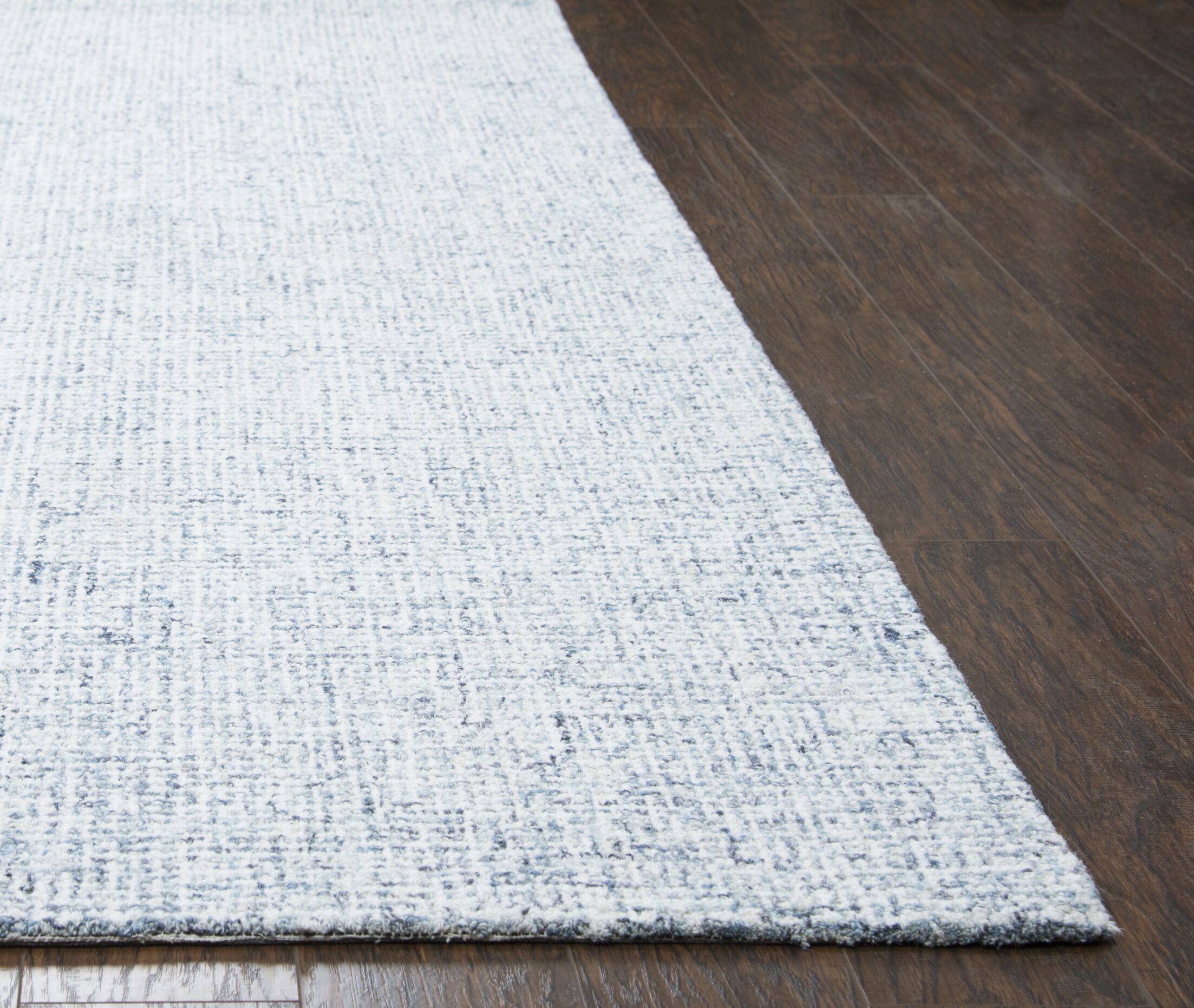 Marsh Hand-Tufted Wool Blue Area Rug Rug Size: Round 10'