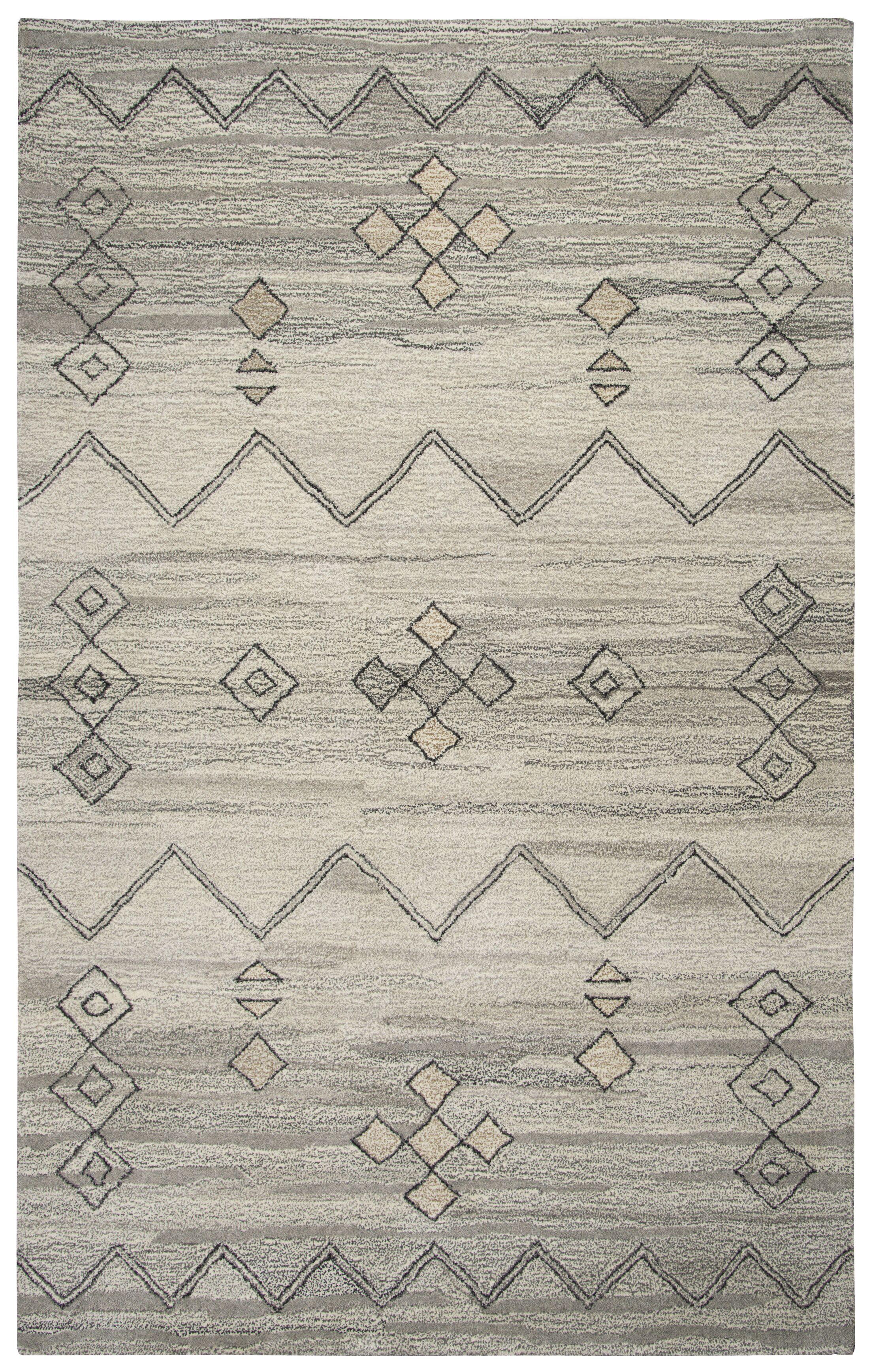 Bowdoin Hand-Tufted Gray Area Rug Rug Size: Rectangle 10' x 13'