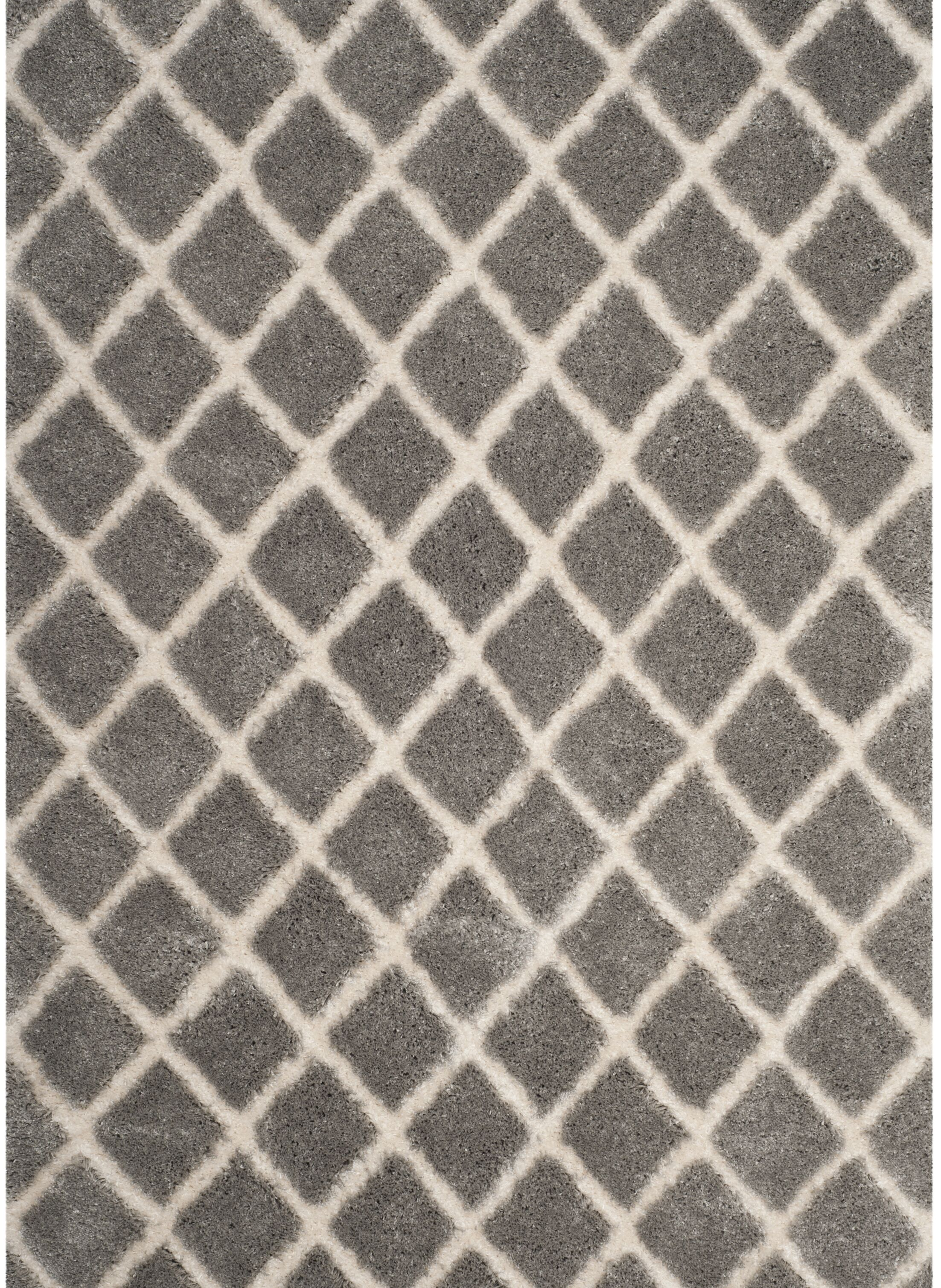 Light Gray/Cream Area Rug Rug Size: Rectangle 2'3
