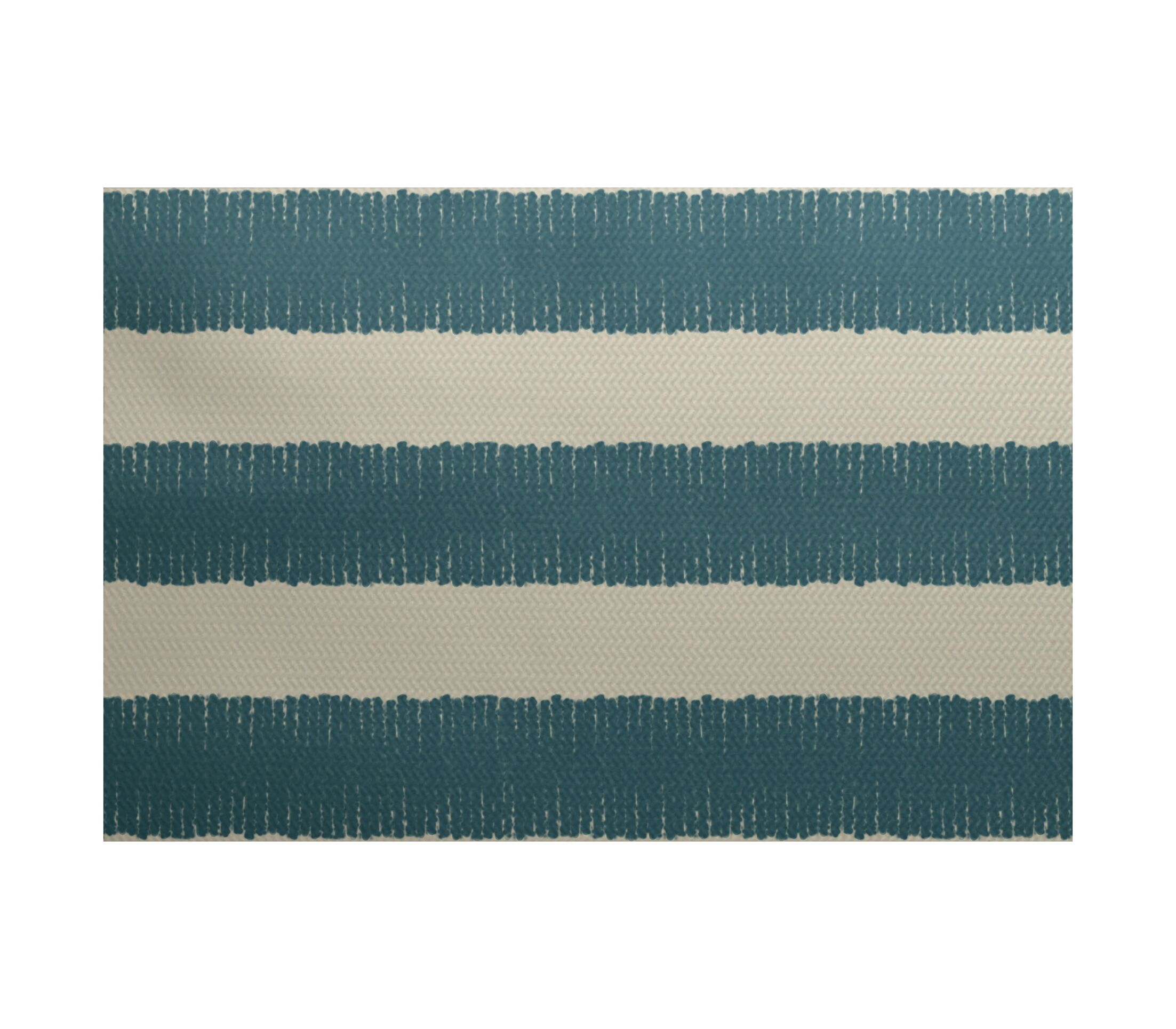 Leann Twisted Stripe Print Aqua Indoor/Outdoor Area Rug Rug Size: Rectangle 3' x 5'