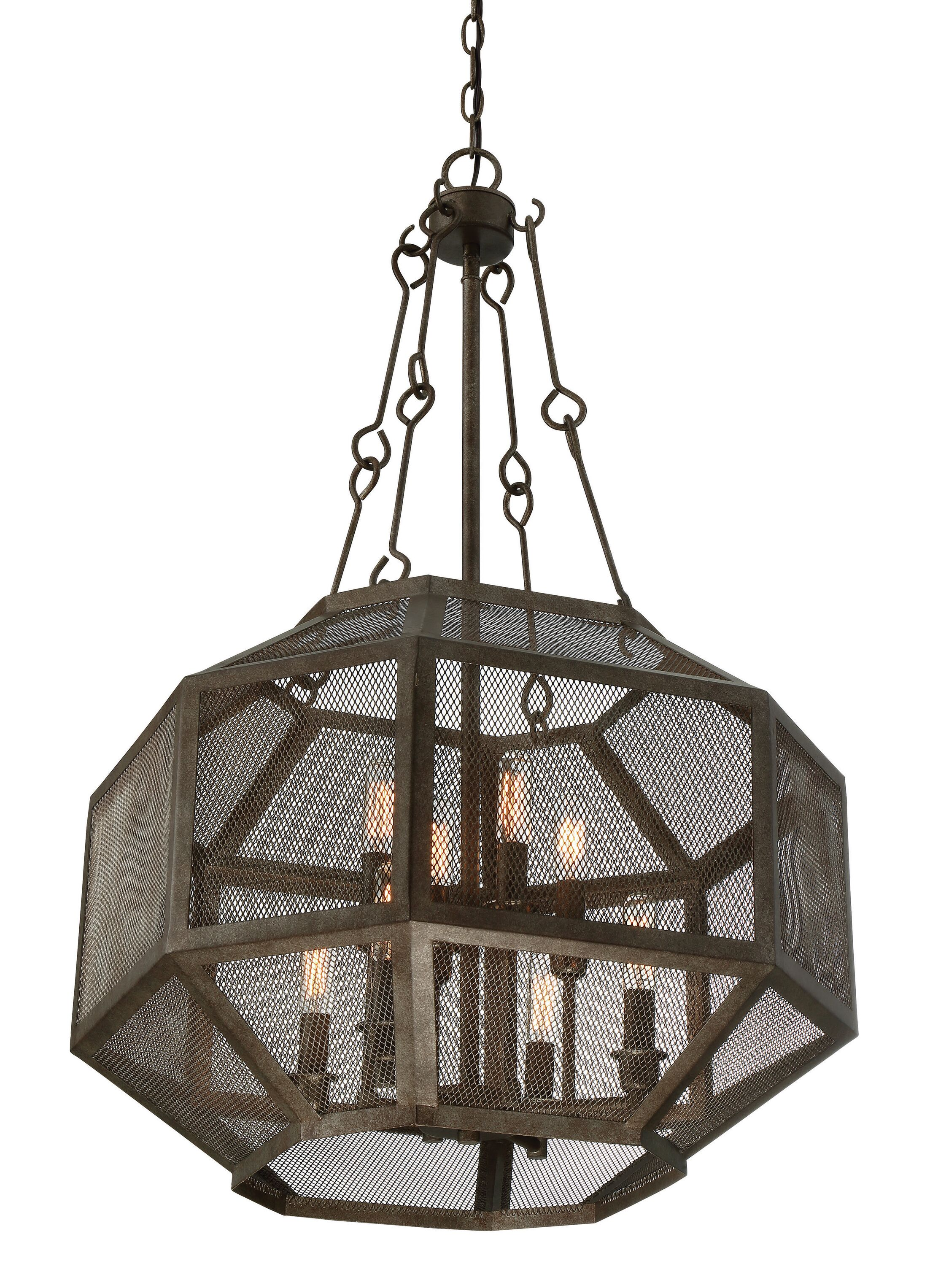 Jaylene 8-Light Geometric Chandelier