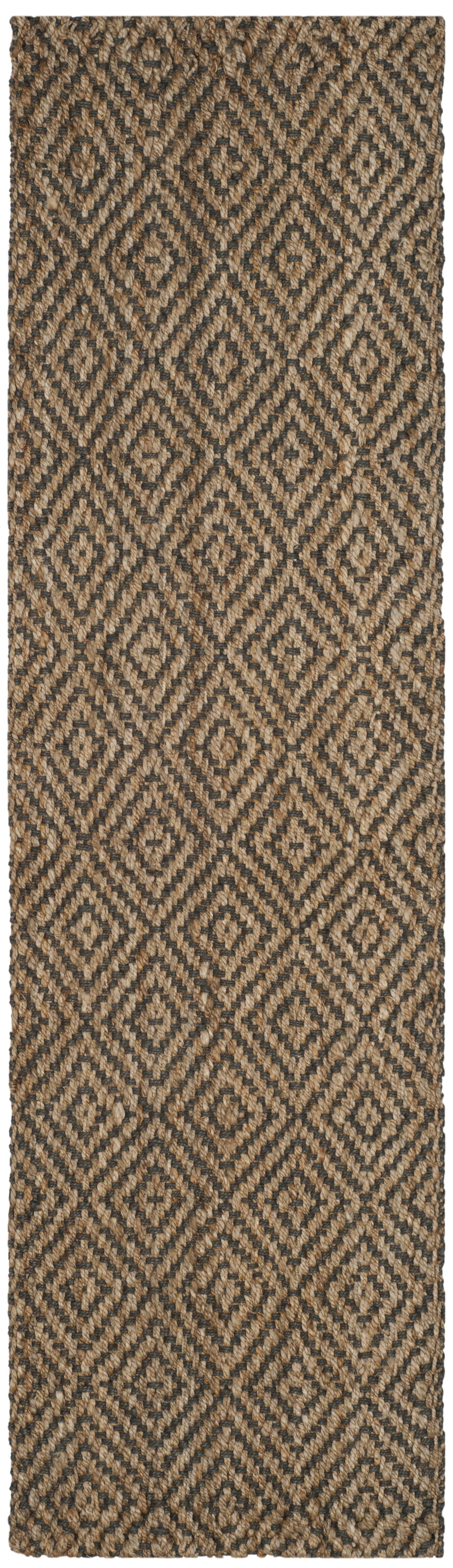 Grassmere Hand-Woven Natural/Grey Area Rug Rug Size: Runner 2'3