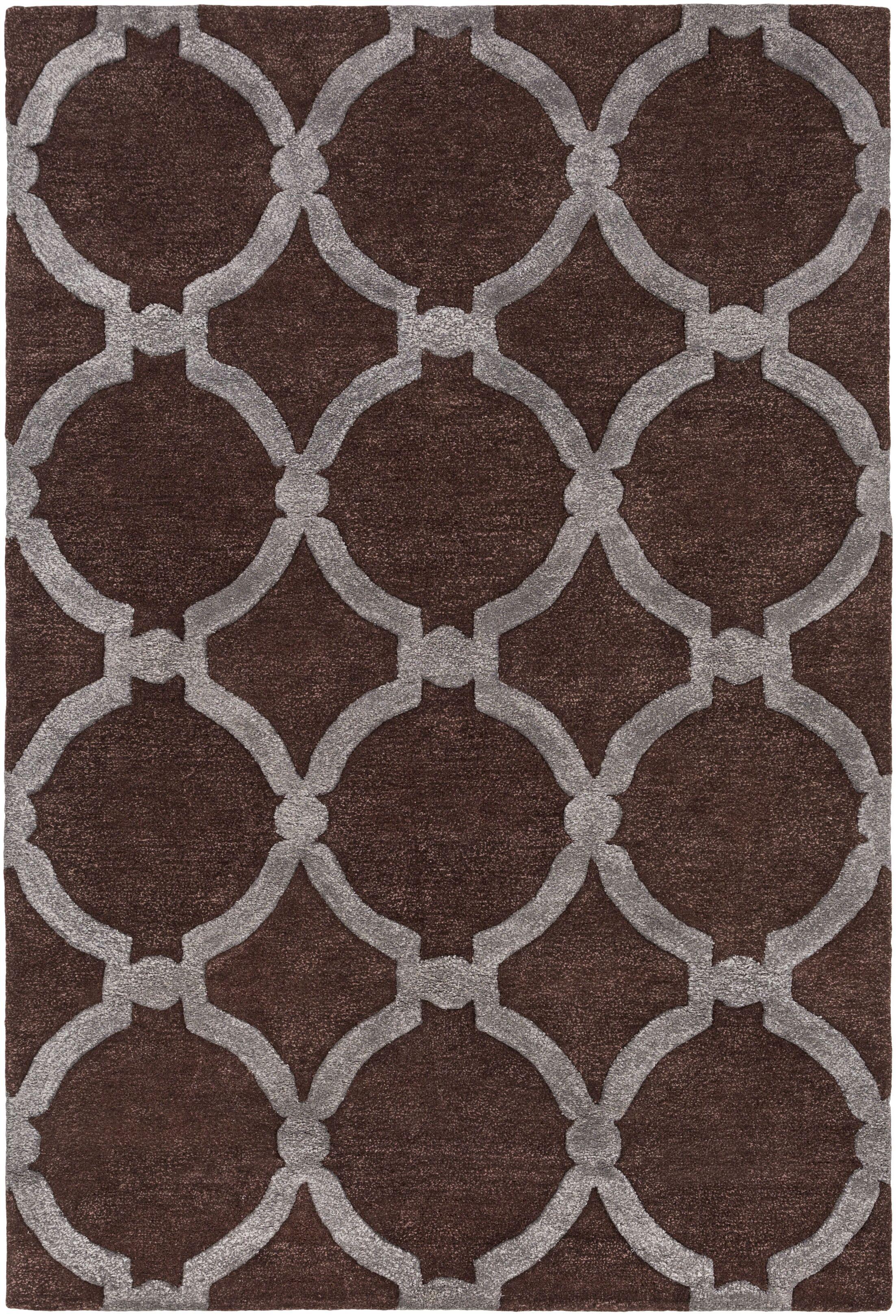 Labastide Hand-Tufted Brown Area Rug Rug Size: Rectangle 8' x 11'