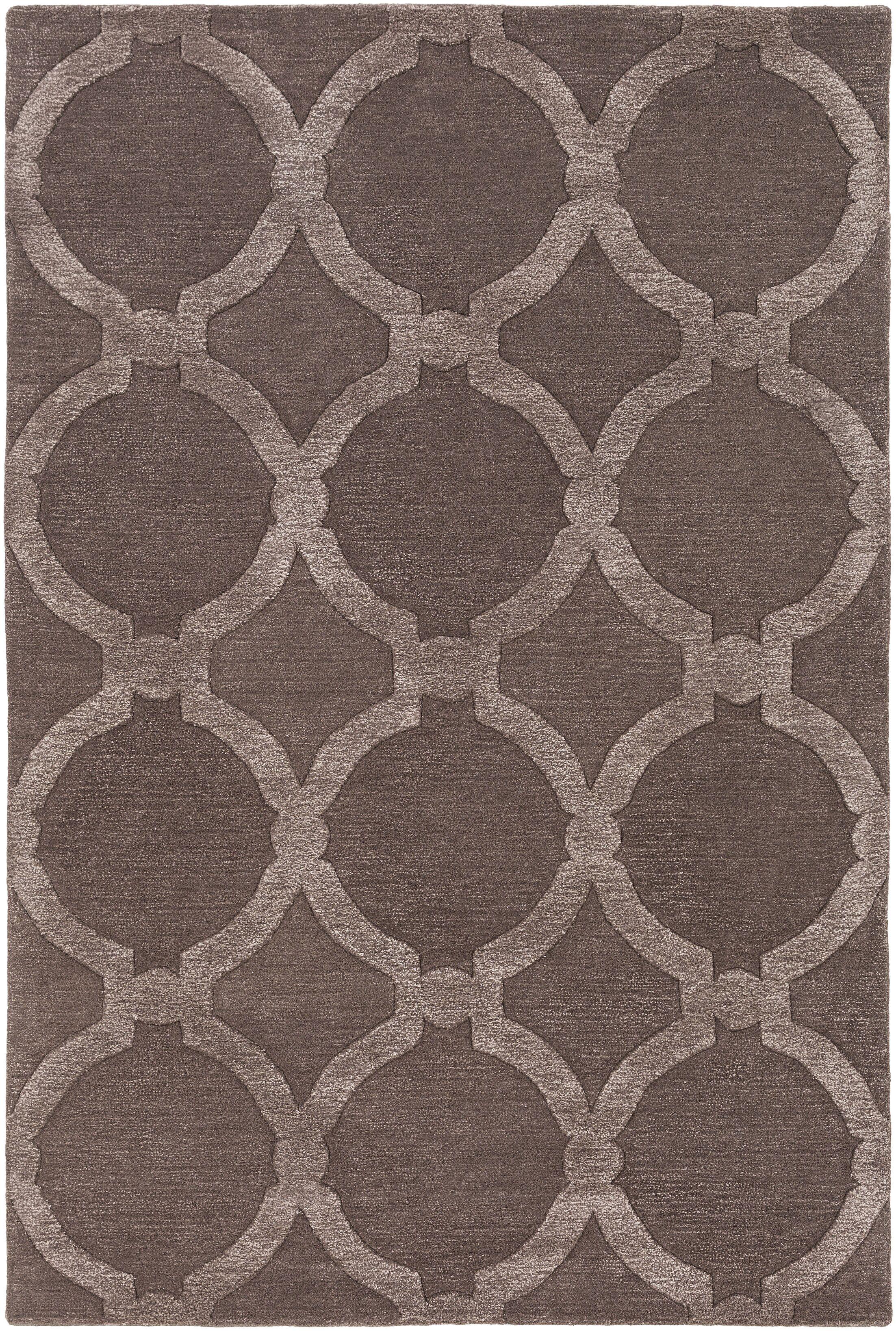 Labastide Hand-Tufted Cocoa Area Rug Rug Size: Rectangle 5' x 7'6