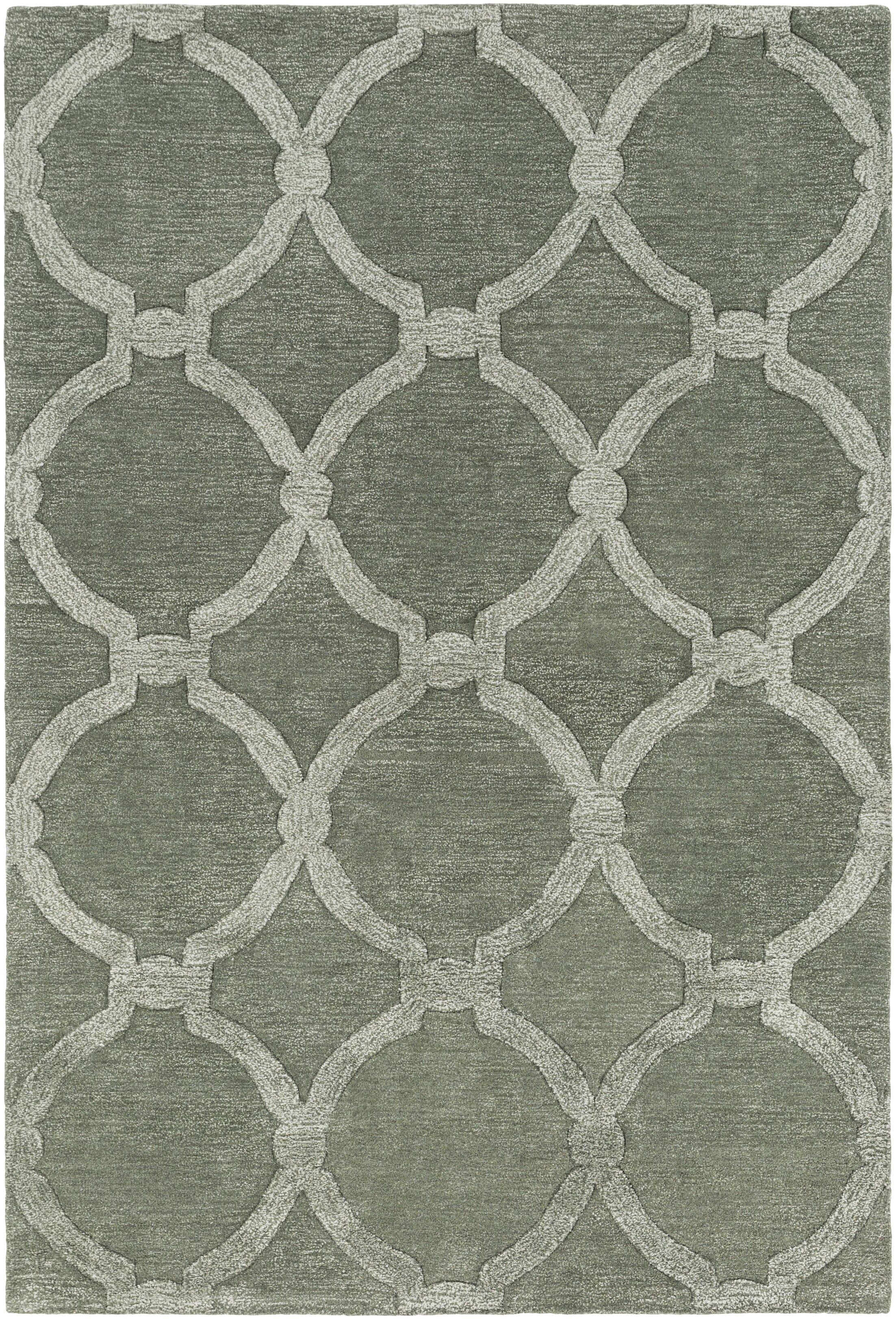 Labastide Hand-Tufted Sage Area Rug Rug Size: Rectangle 5' x 7'6