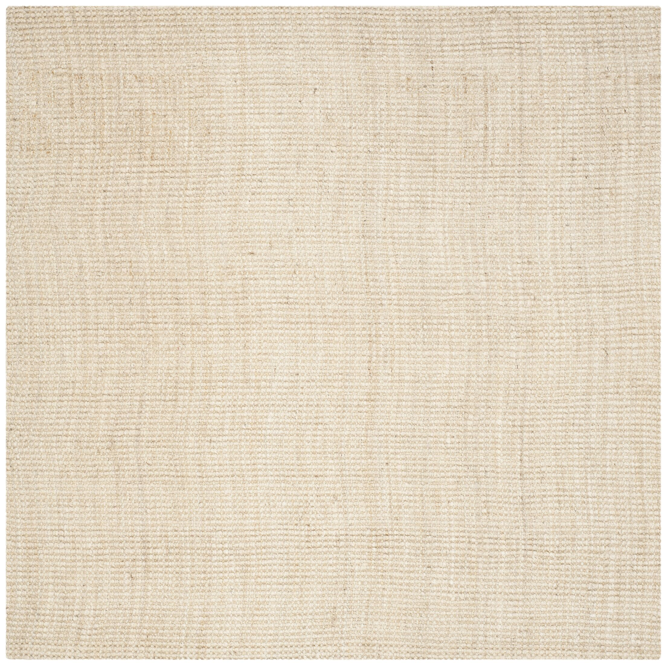Muriel Hand-Woven Ivory Area Rug Rug Size: Square 9'