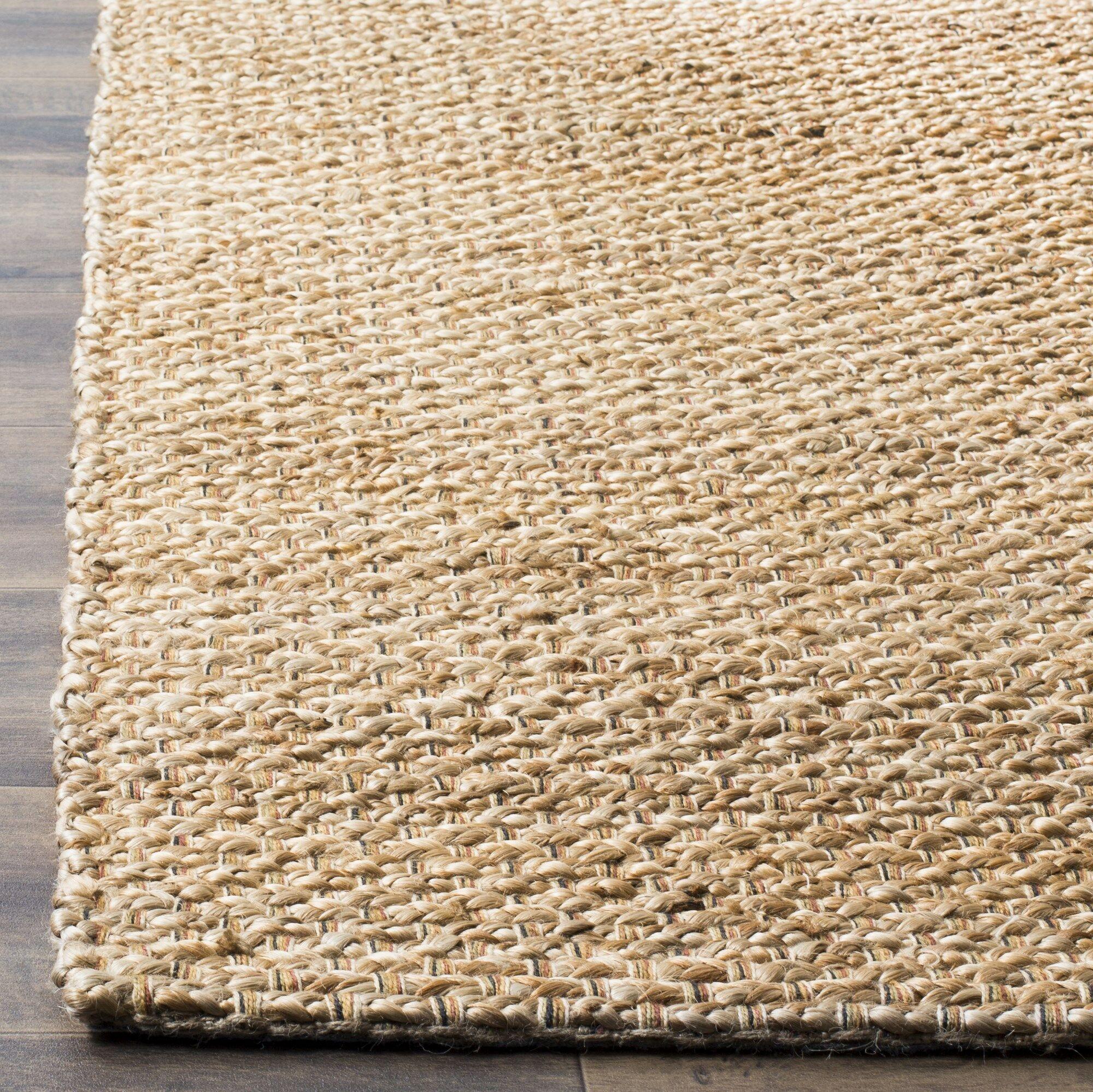 Makawee Hand-Woven Natural Area Rug Rug Size: Rectangle 6' x 9'