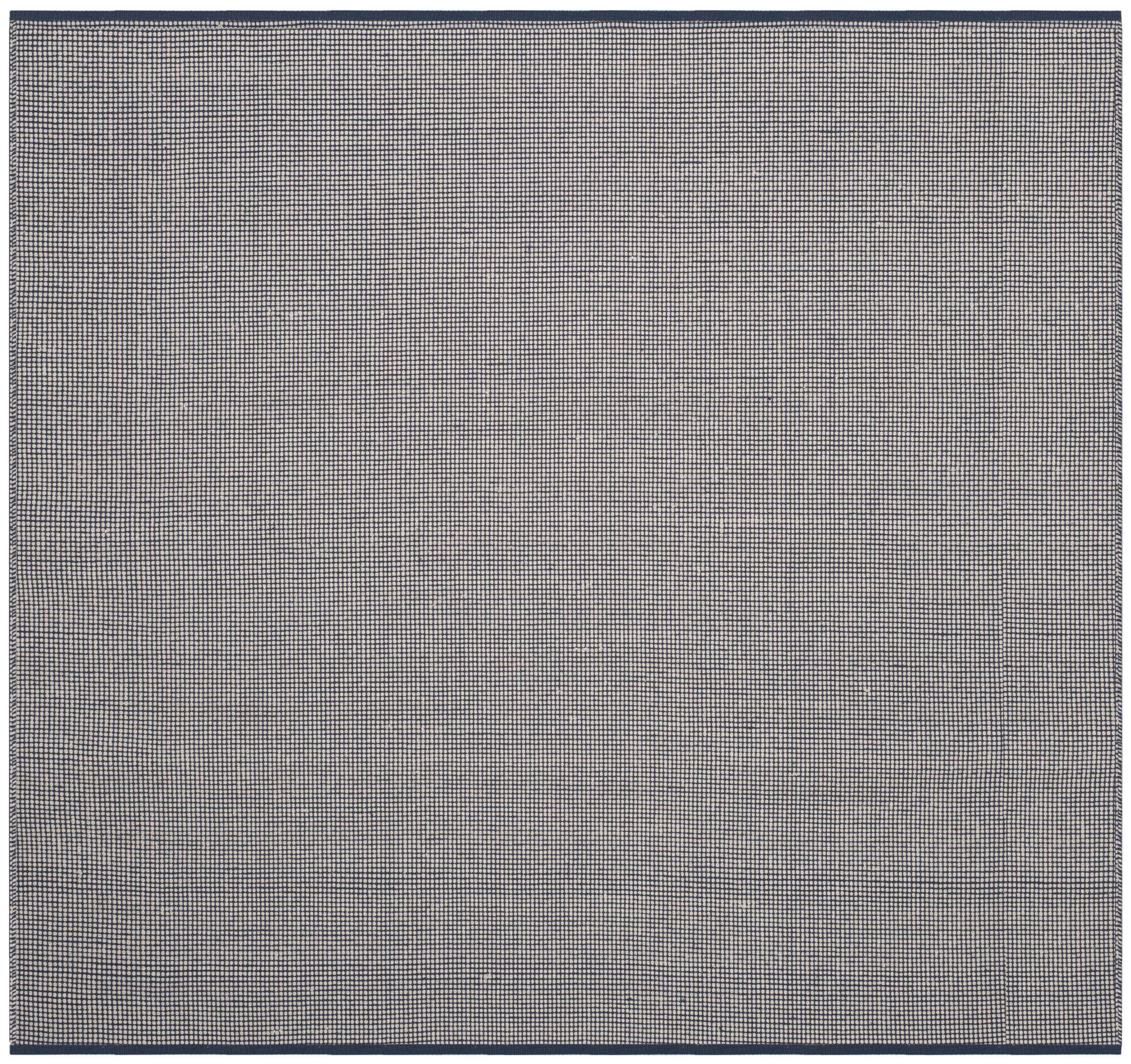 Ollie Hand-Woven Cotton Navy Area Rug Rug Size: Square 6'