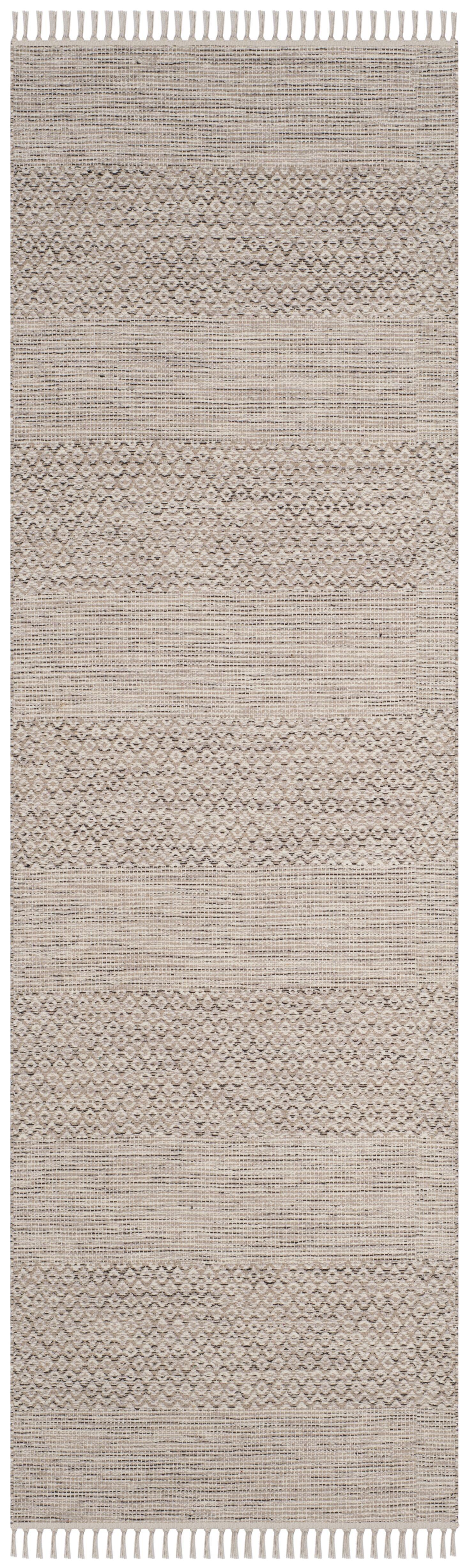Oxbow Hand-Woven Ivory/Steel Grey Area Rug Rug Size: Runner 2'3