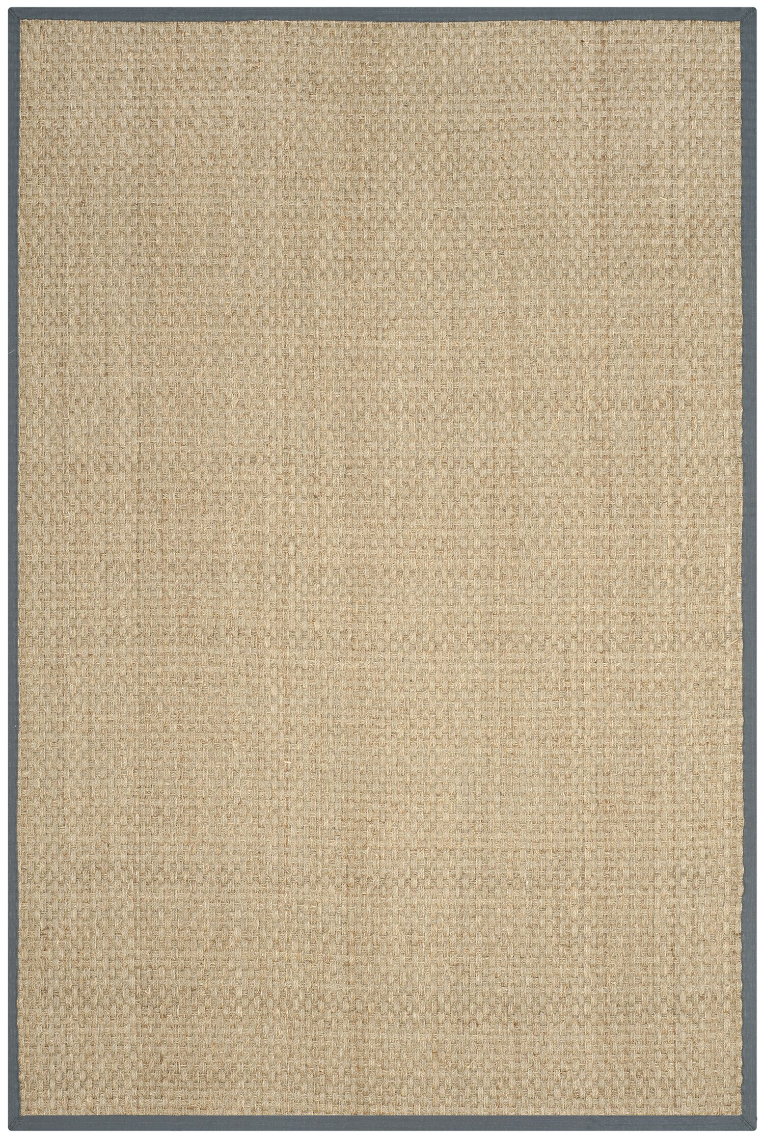 Binford Natural/Dark Gray Area Rug Rug Size: Rectangle 9' x 12'