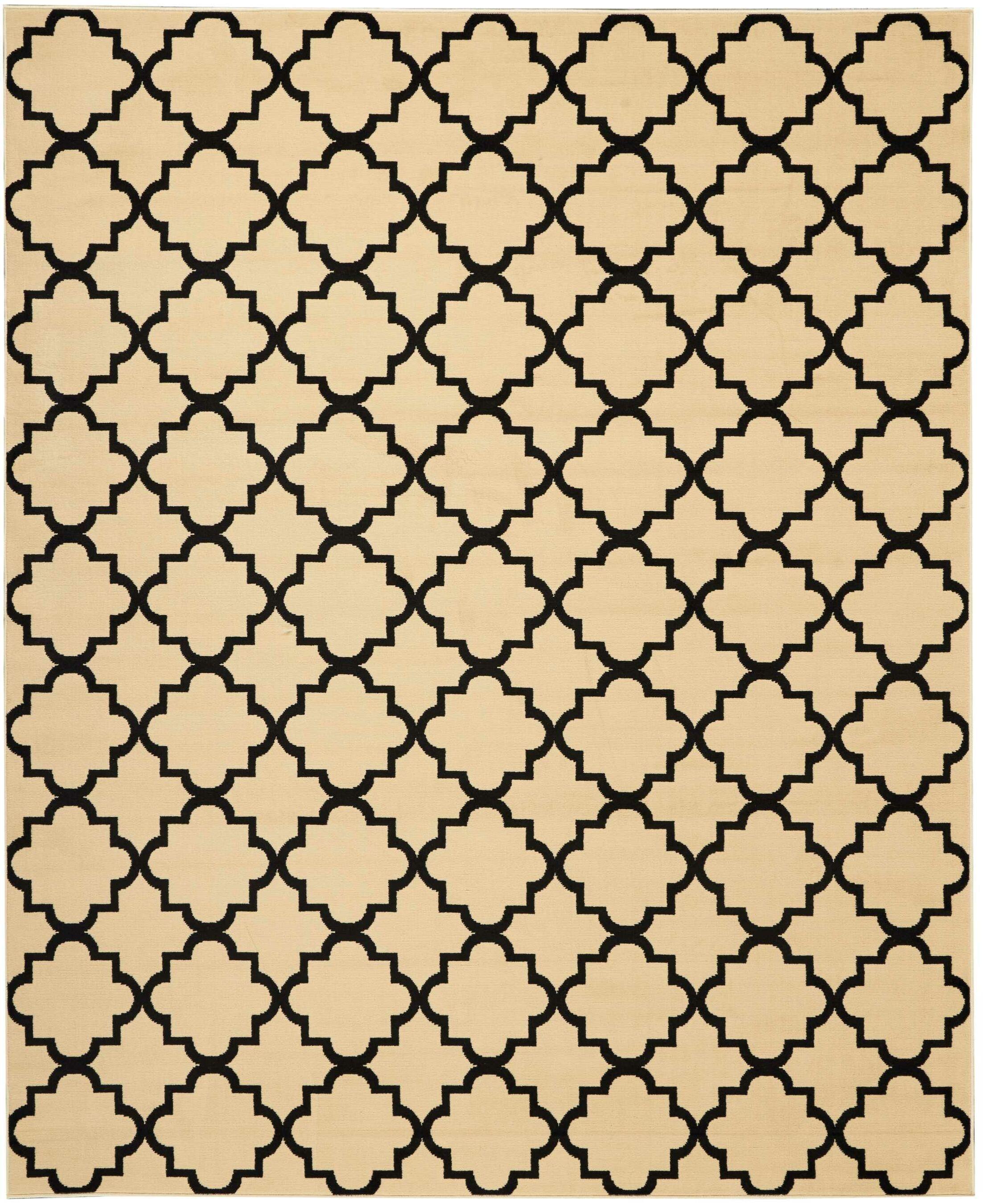 Longmont Cream/Black Indoor Area Rug Rug Size: Rectangle 7'10