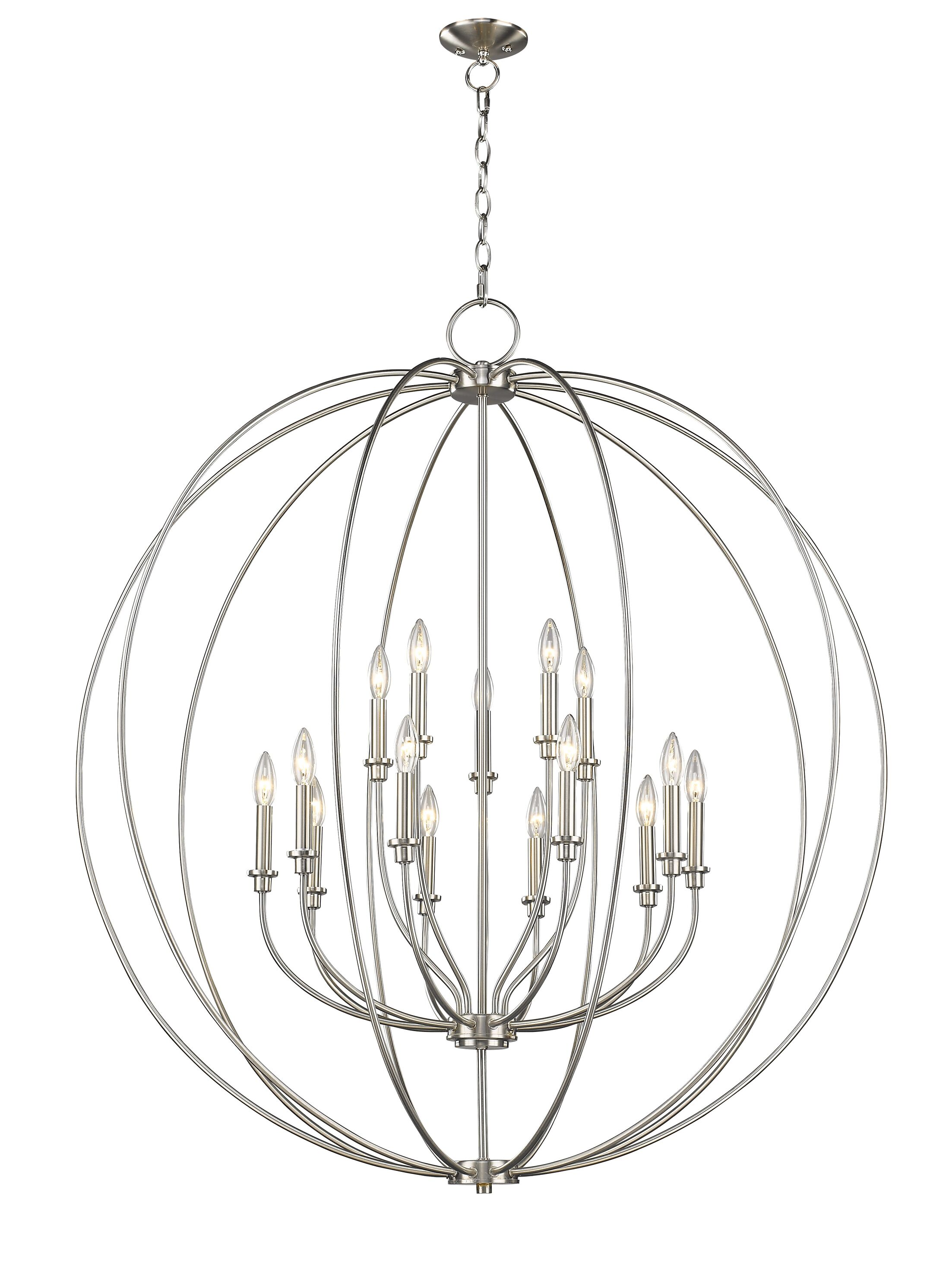 Naomie 15-Light Pendant Finish: Brushed Nickel
