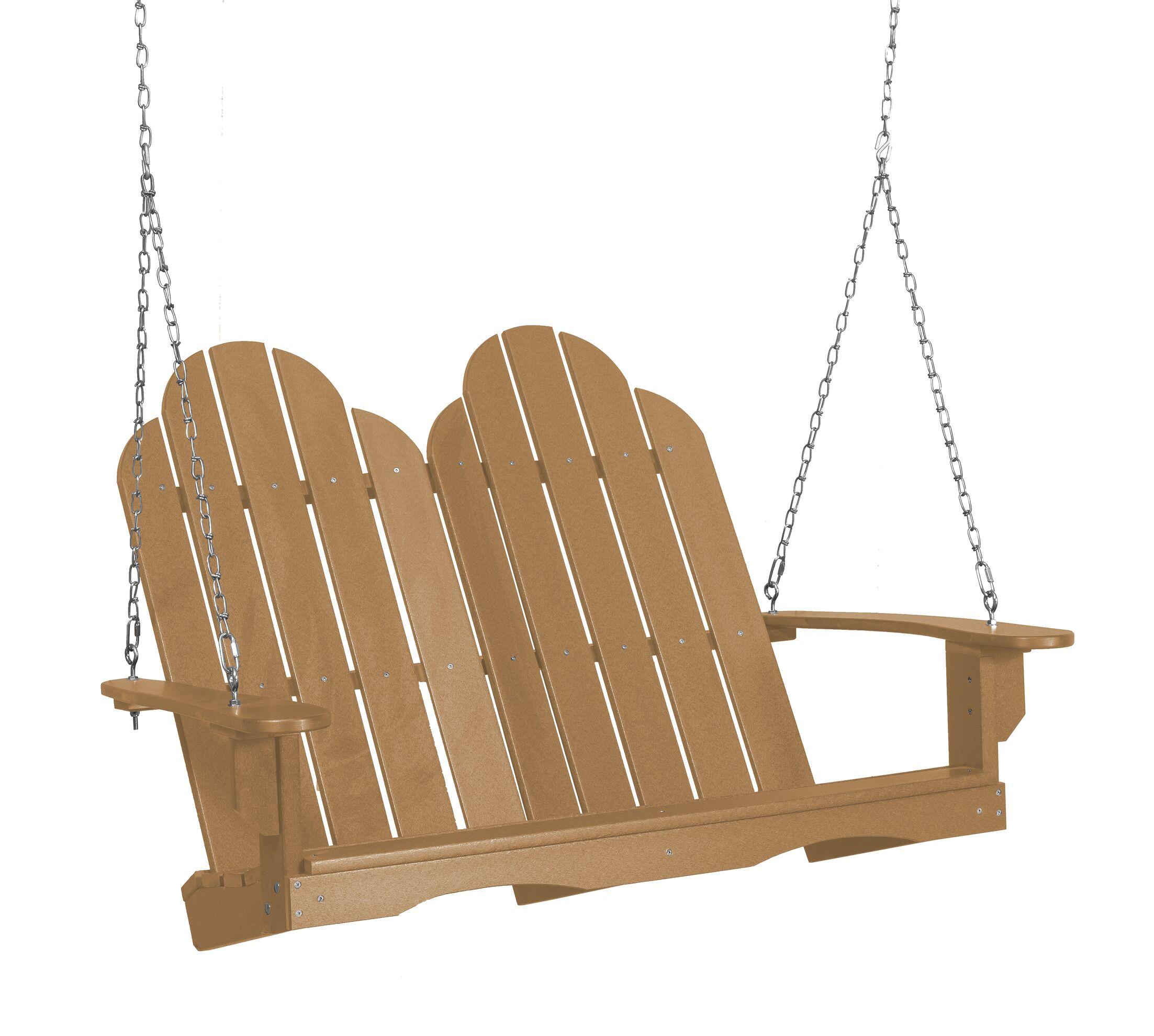 Sawyerville Adirondack Porch Swing Finish: CEDAR
