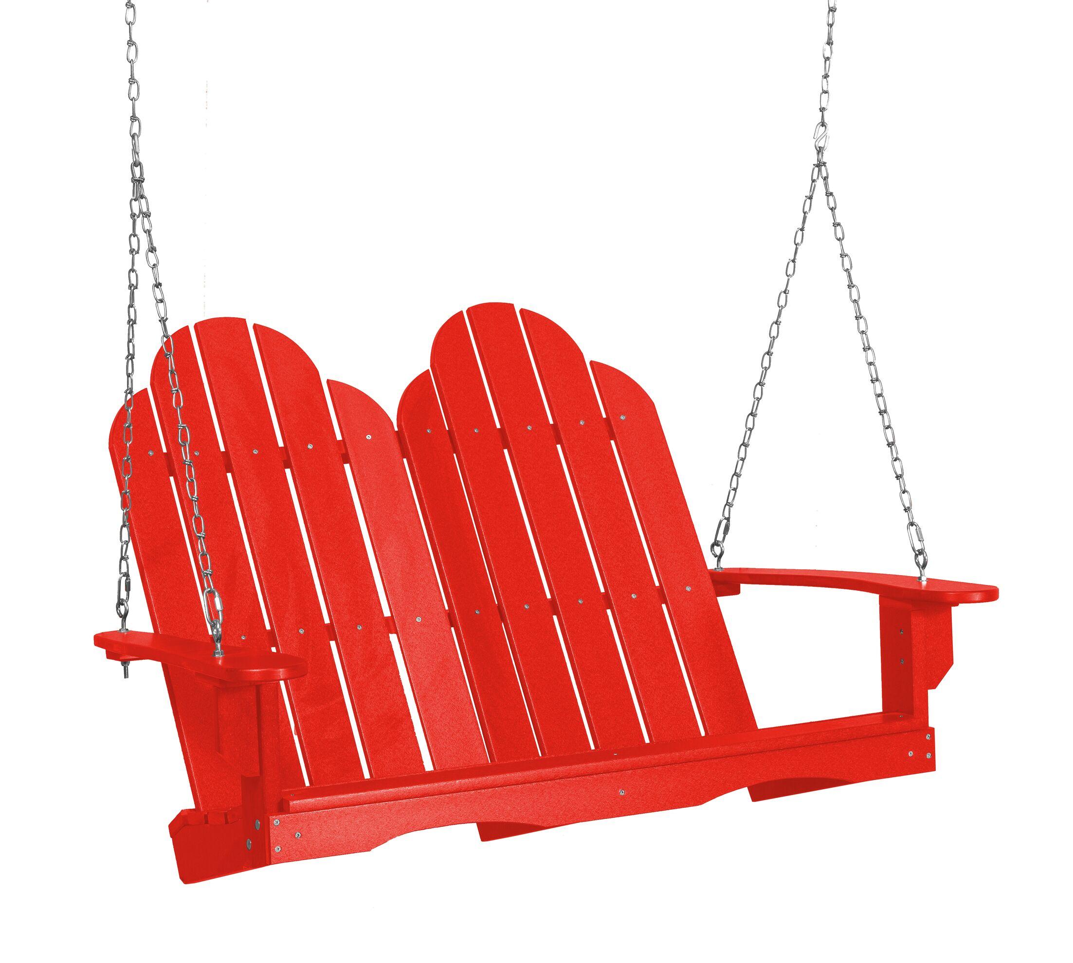 Sawyerville Adirondack Porch Swing Finish: RED