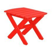 Sawyerville Rectangle Side Table Color: Bright Red