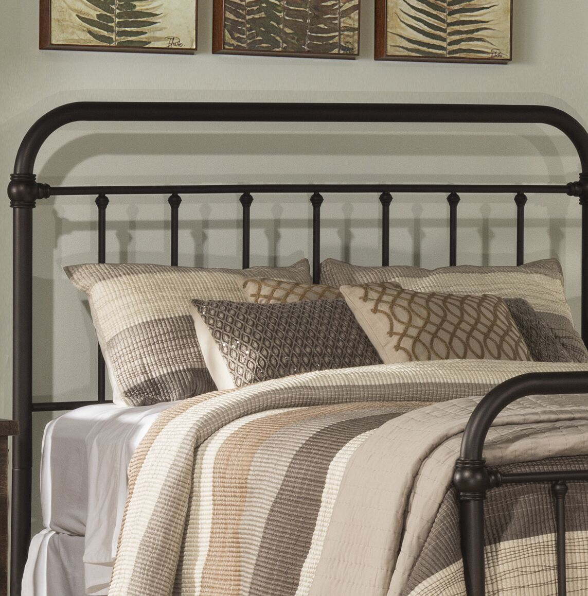 Harlow Slat Headboard Size: Twin, Color: Dark Bronze