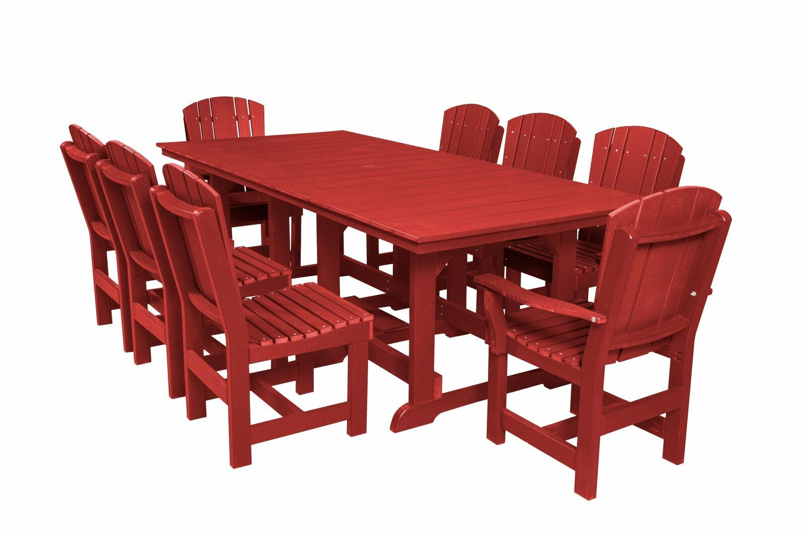 Patricia 9 Piece Dining Set Color: Cardinal Red