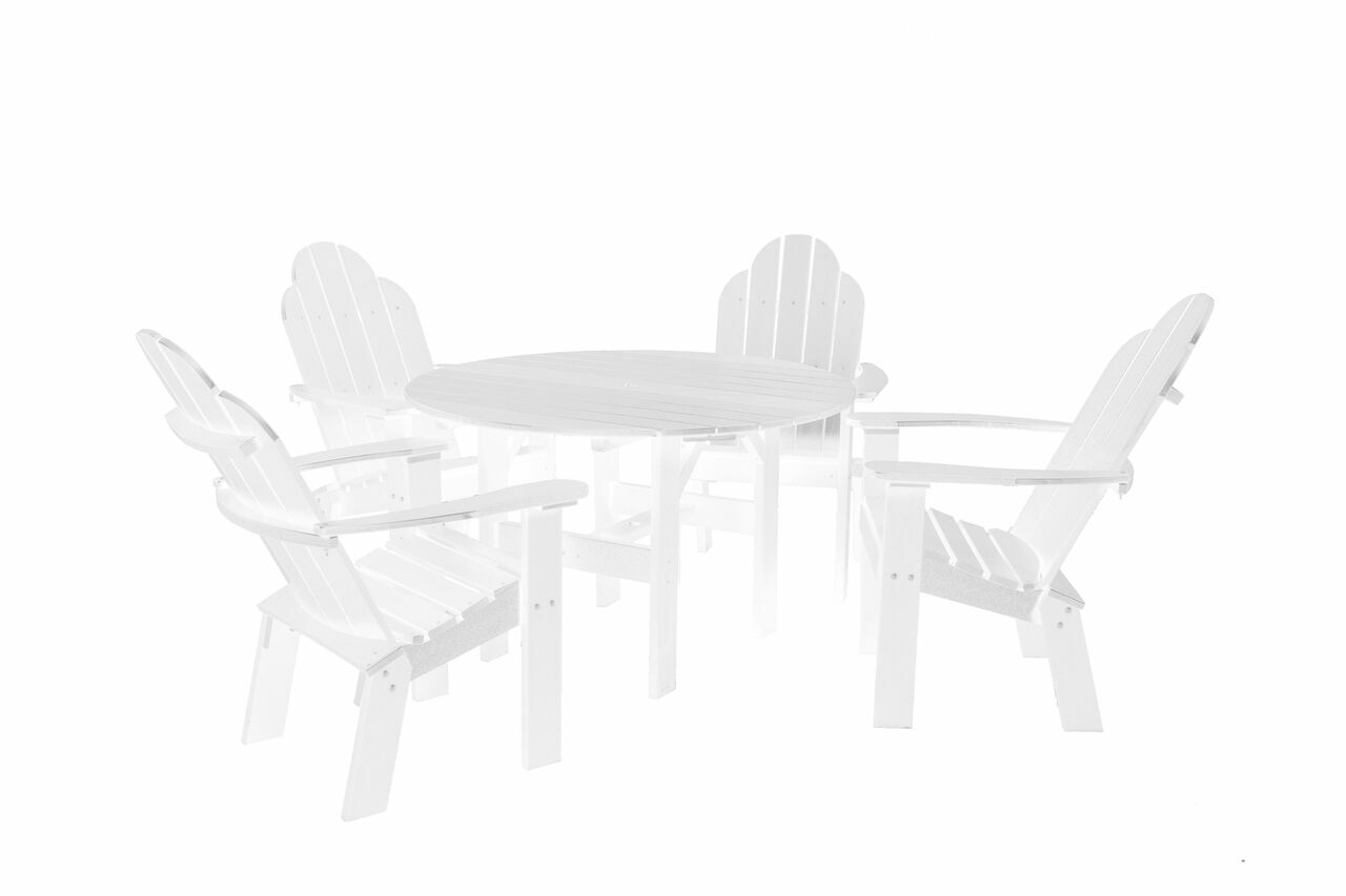 Classic 5 Piece Dining Set Color: White