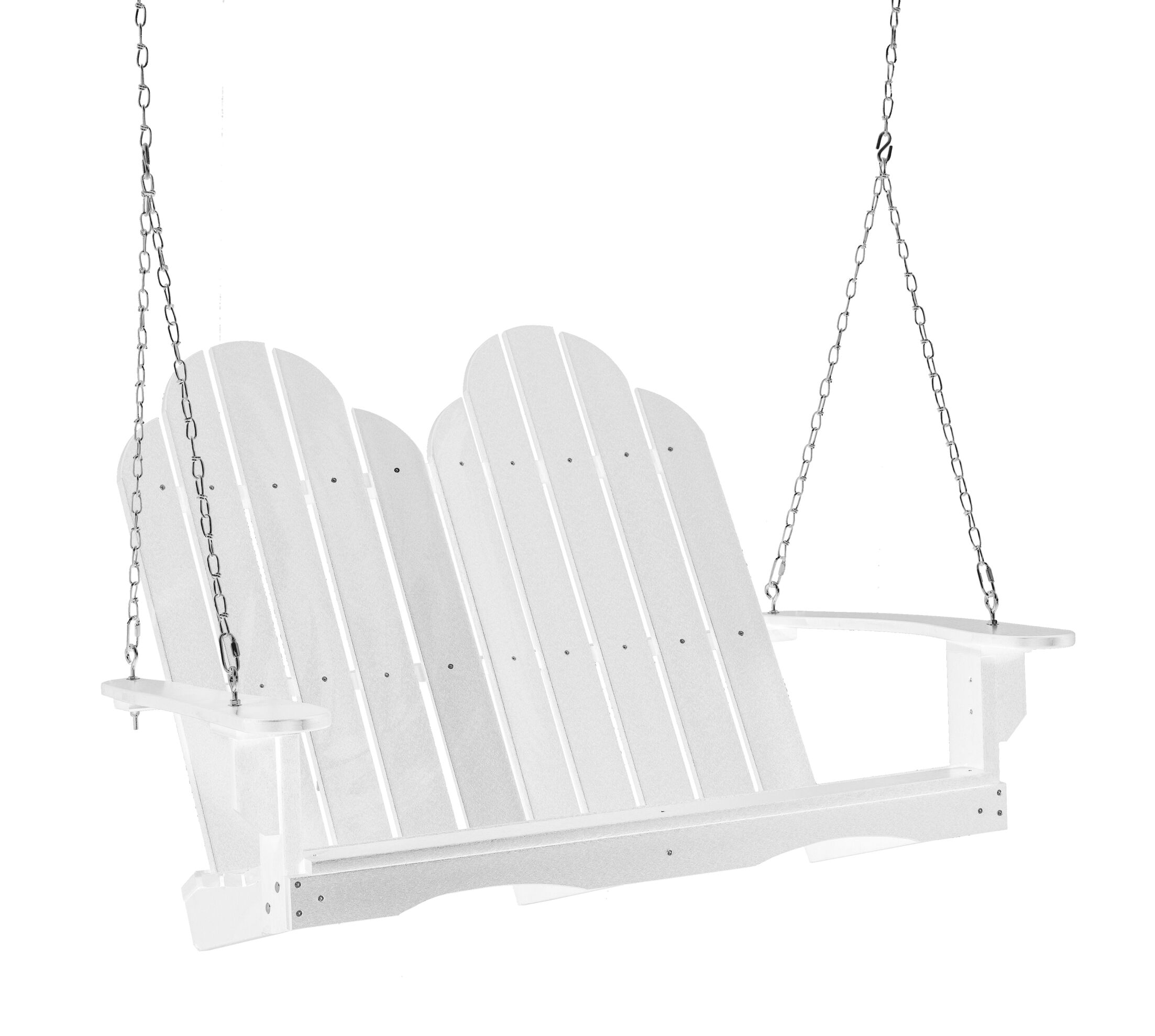 Sawyerville Adirondack Porch Swing Finish: White