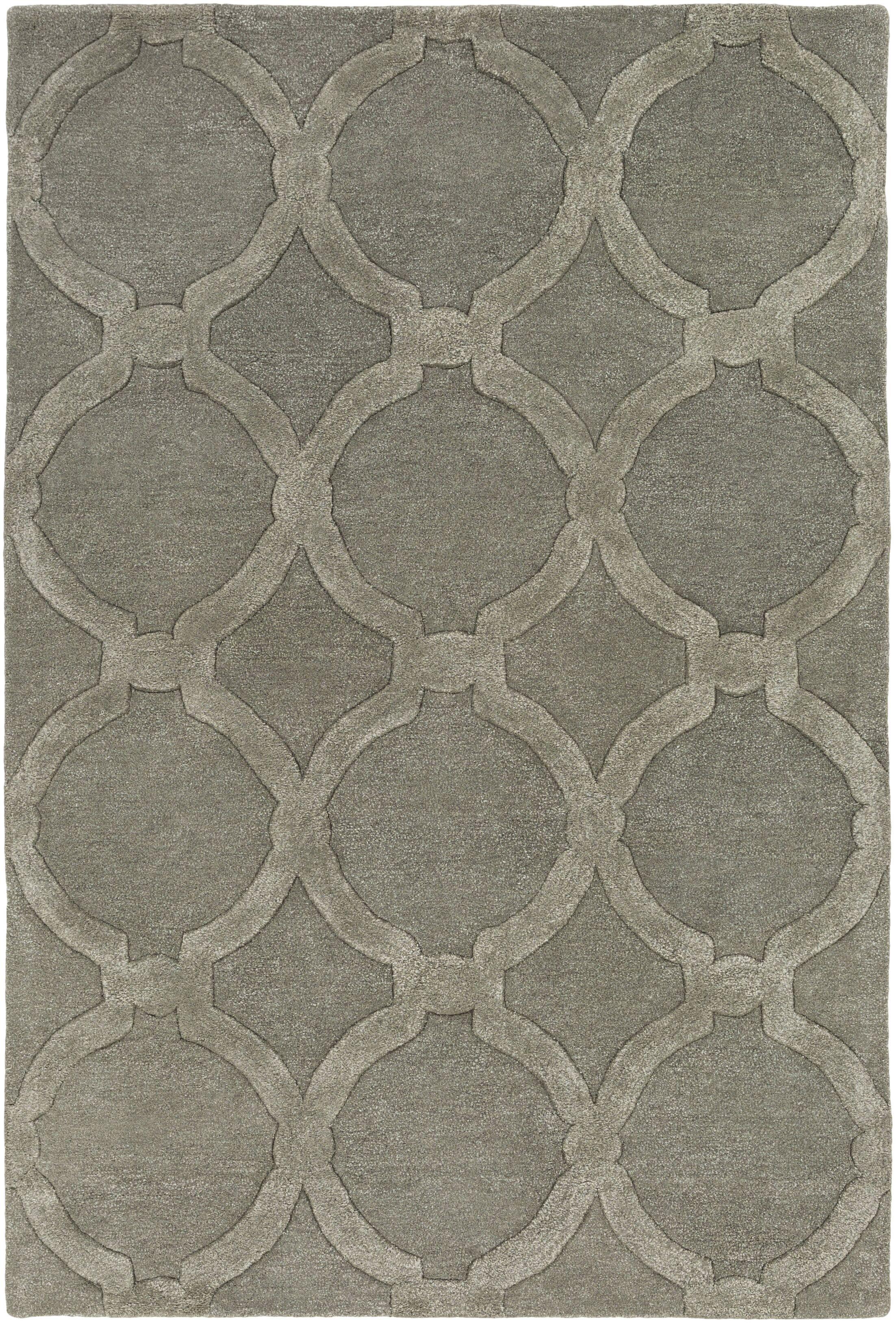 Labastide Hand-Tufted Charcoal Area Rug Rug Size: Rectangle 5' x 7'6