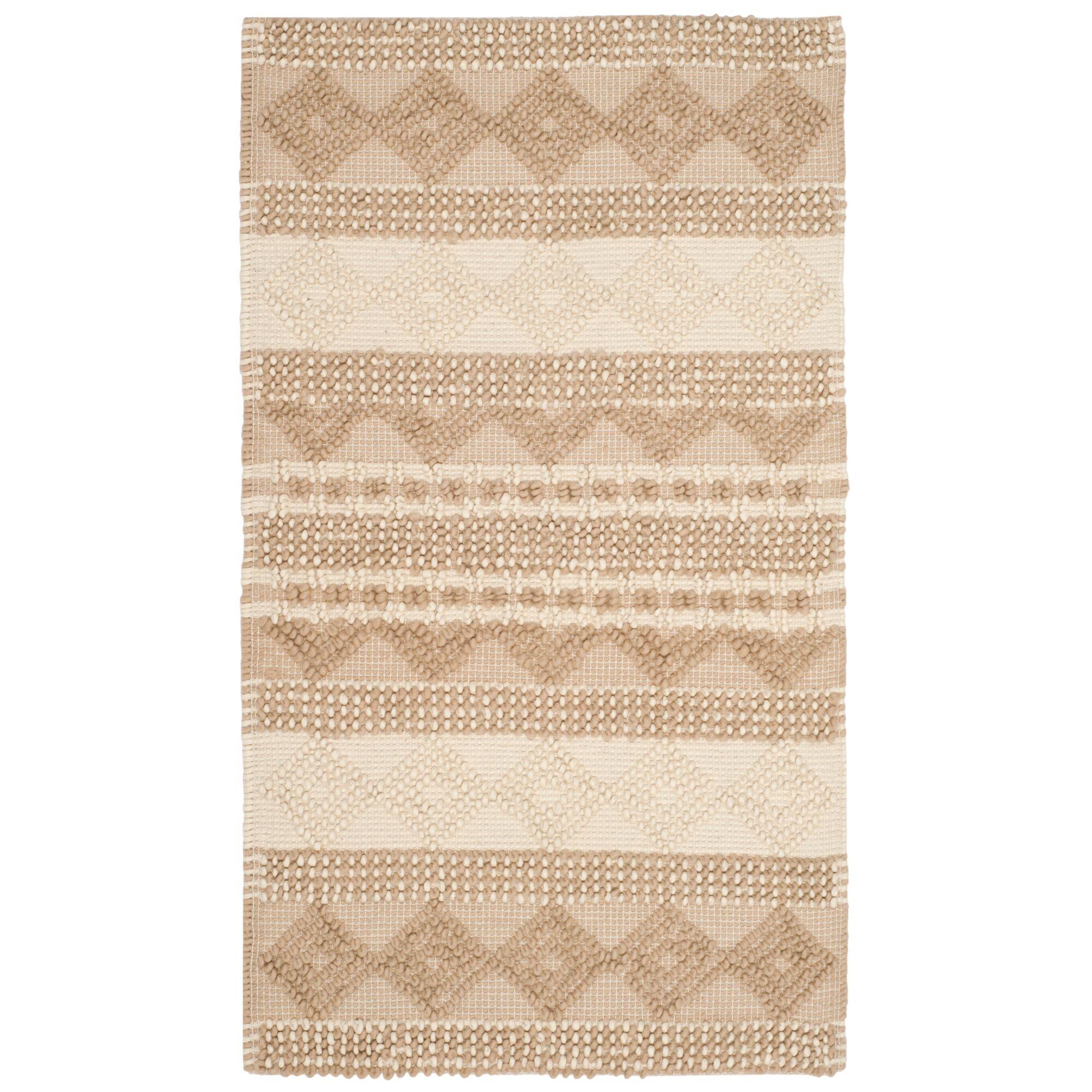 Billie Hand-Tufted Beige/Ivory Area Rug Rug Size: Rectangle 3' x 5'