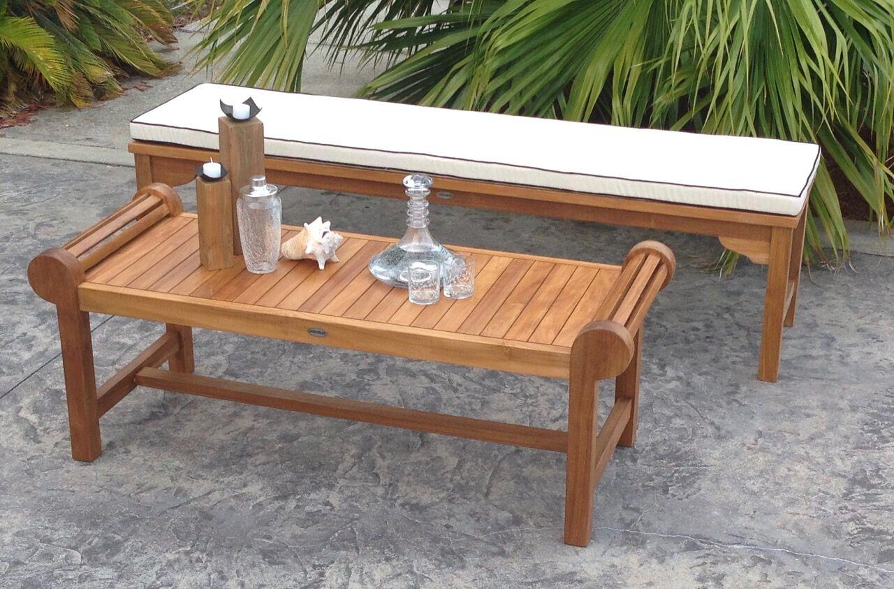 Santa Monica Indoor/Outdoor Bench Cushion Size: 2