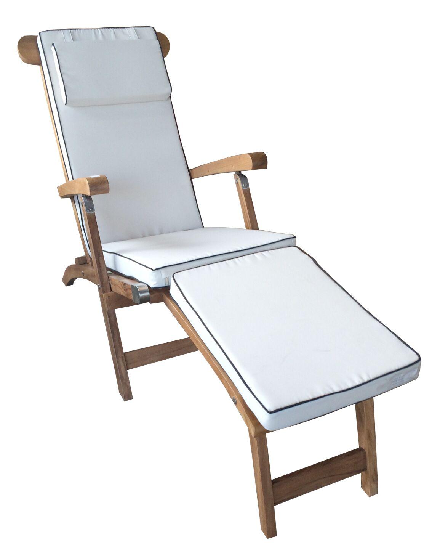 Titanic Teak Chaise Lounge with Cushion