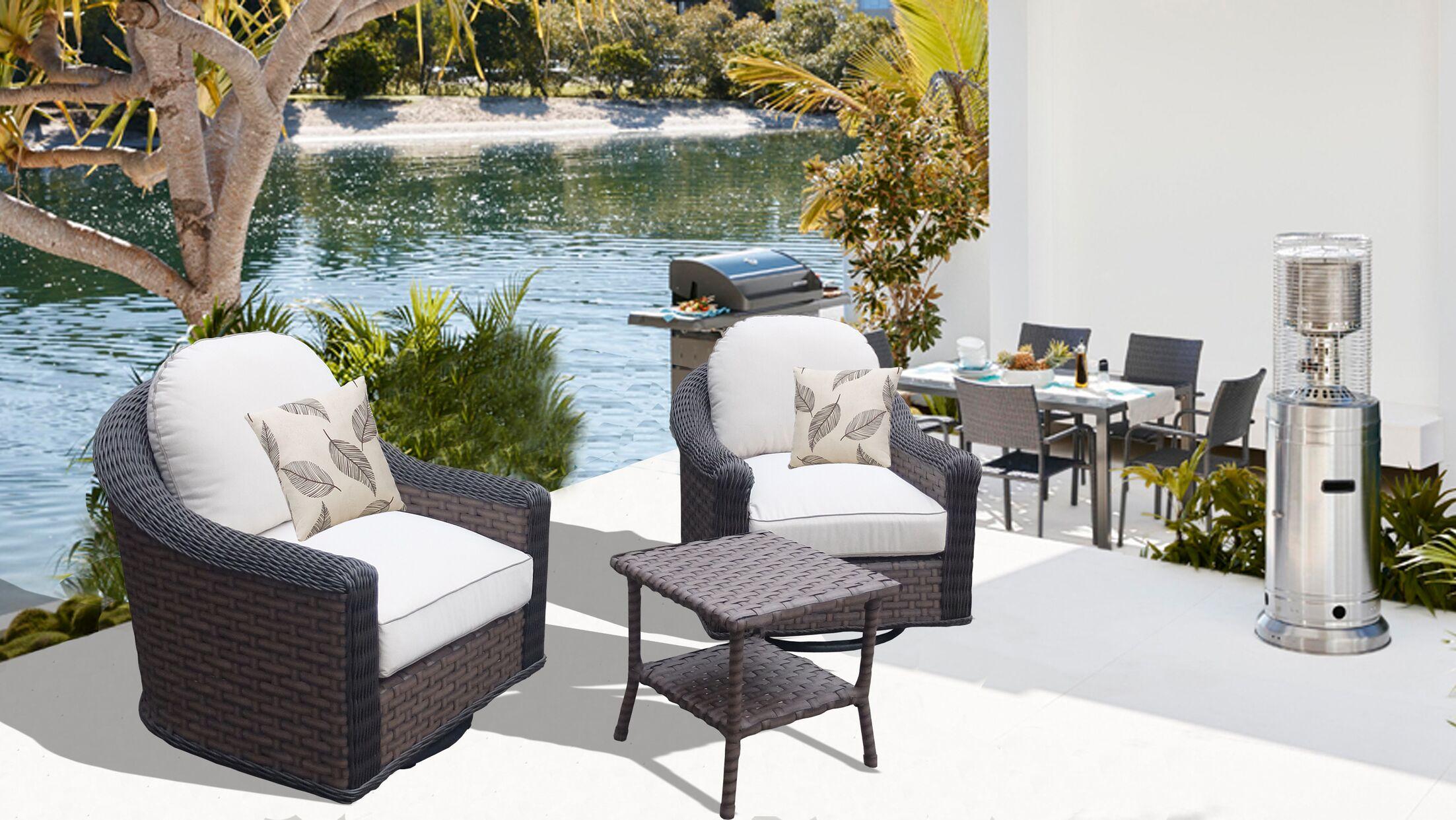 Gaia 3 Piece Conversation Set with Cushions