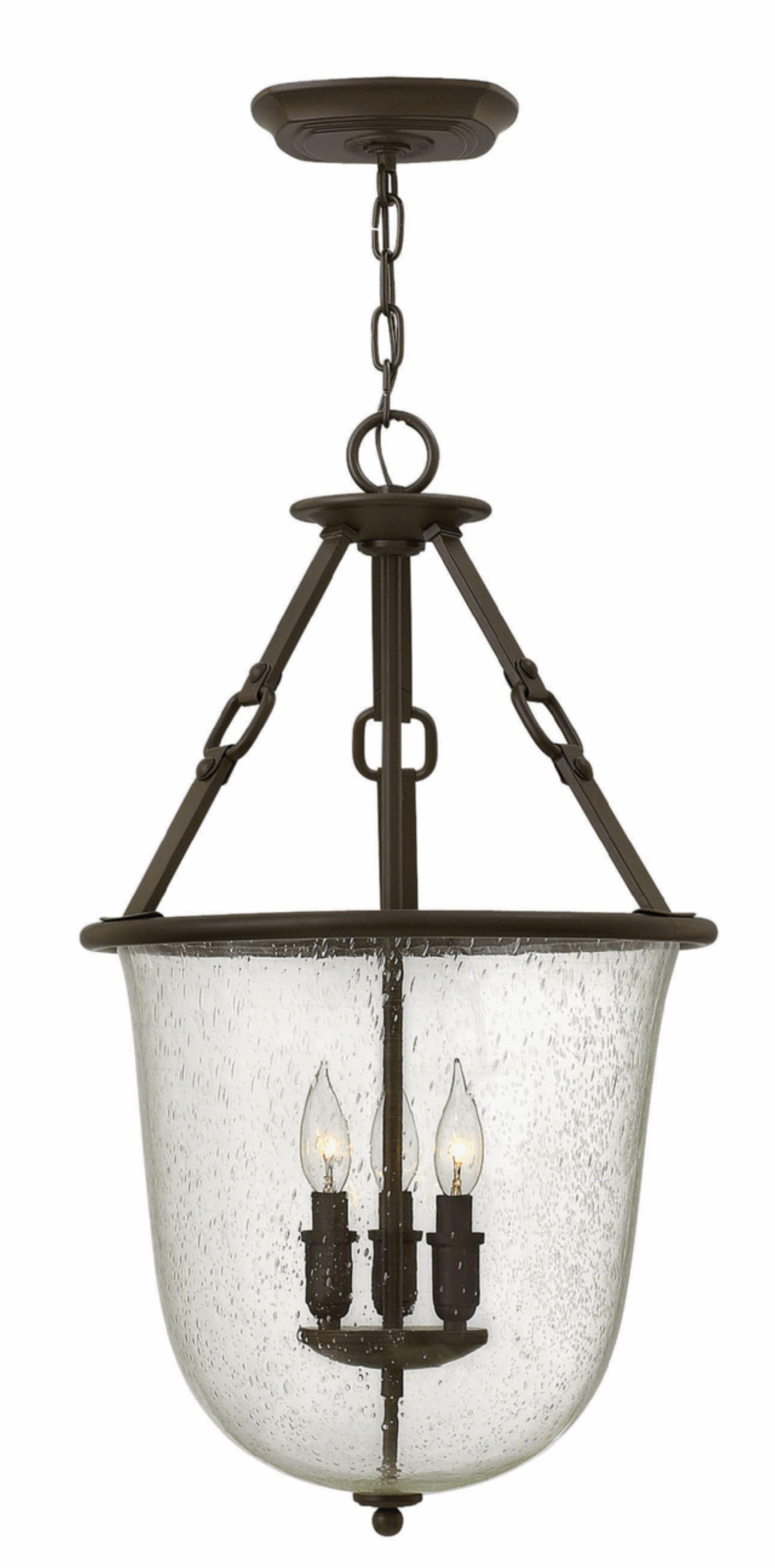 Brockington 3-Light Urn Pendant Finish: Oil Rubbed Bronze